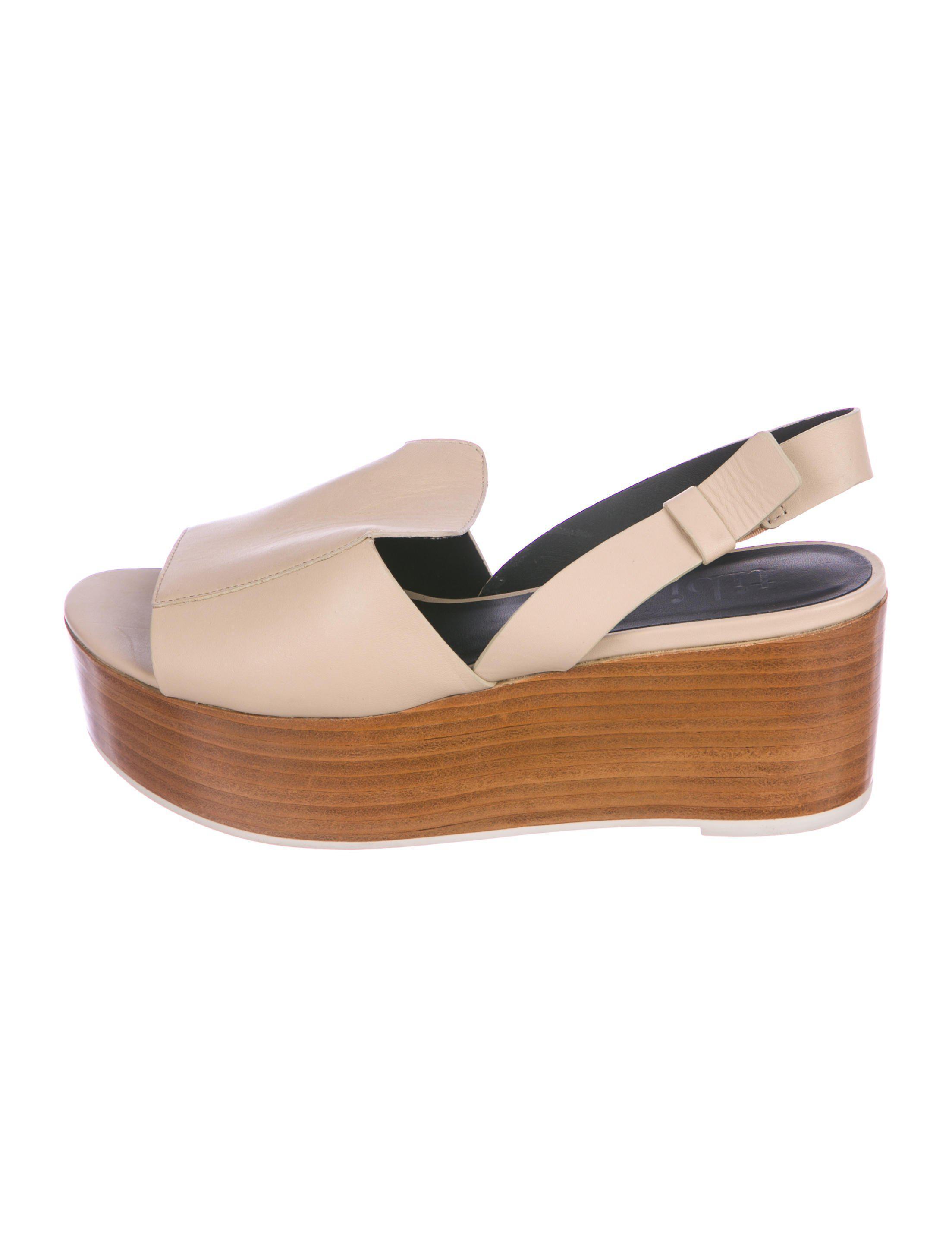 d47aea2b1b8 Lyst - Tibi Leather Platform Sandals in Brown