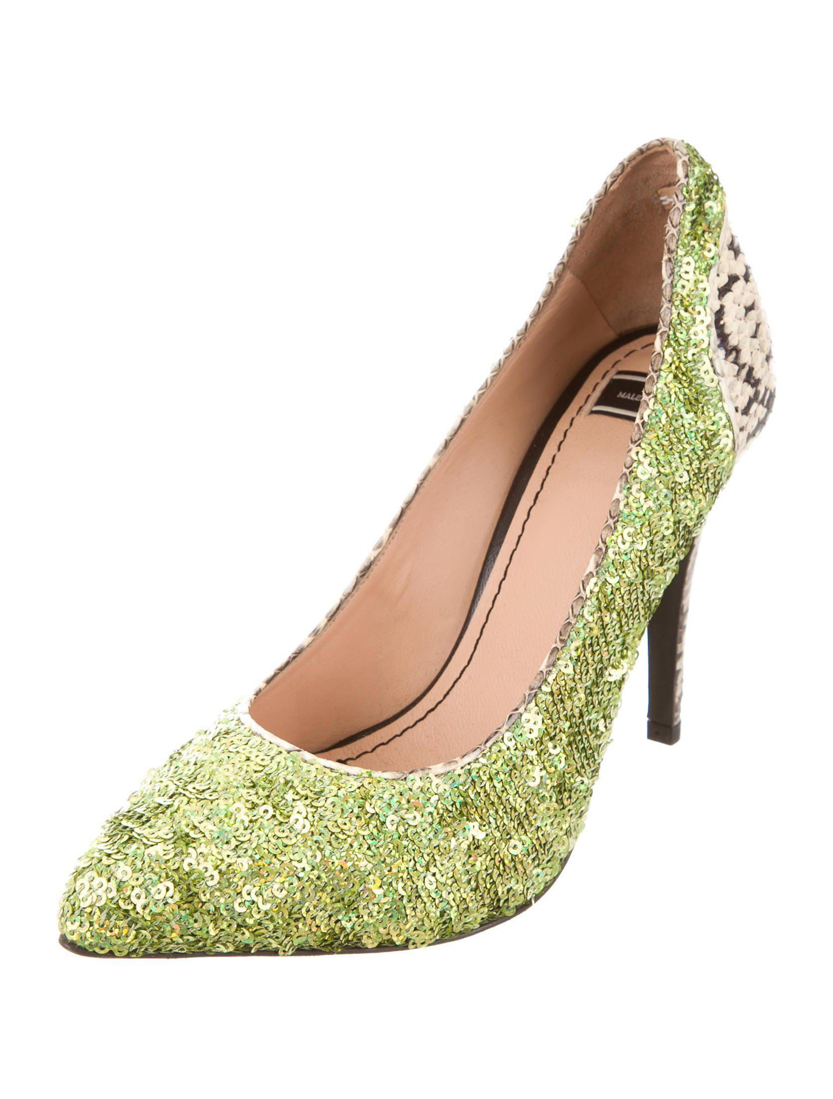 exclusive cheap online By Malene Birger Sequined Snakeskin-Trimmed Pumps cheap the cheapest 2014 newest online cheap sale visit new gwLyCT