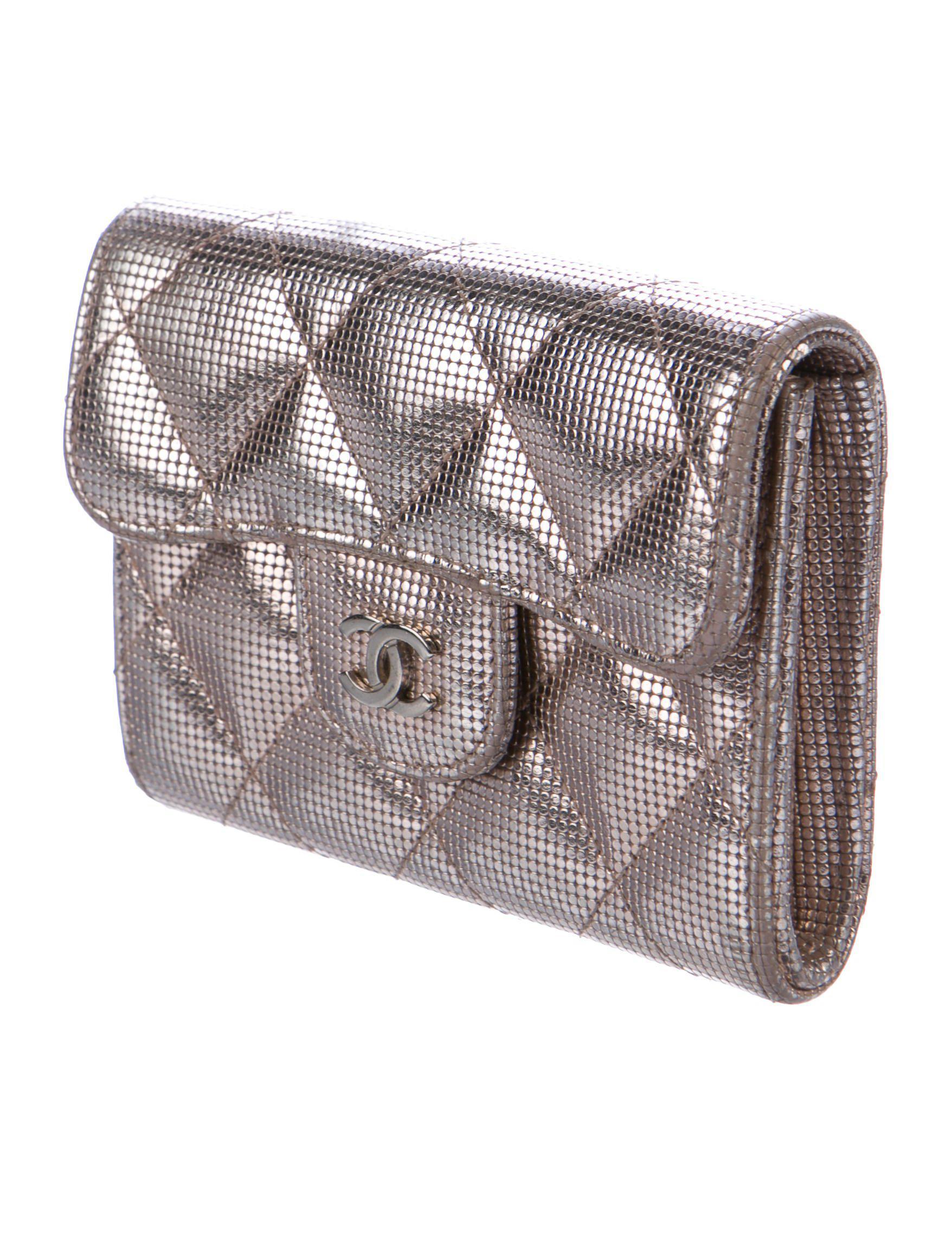 Lyst - Chanel Business Cardholder in Metallic