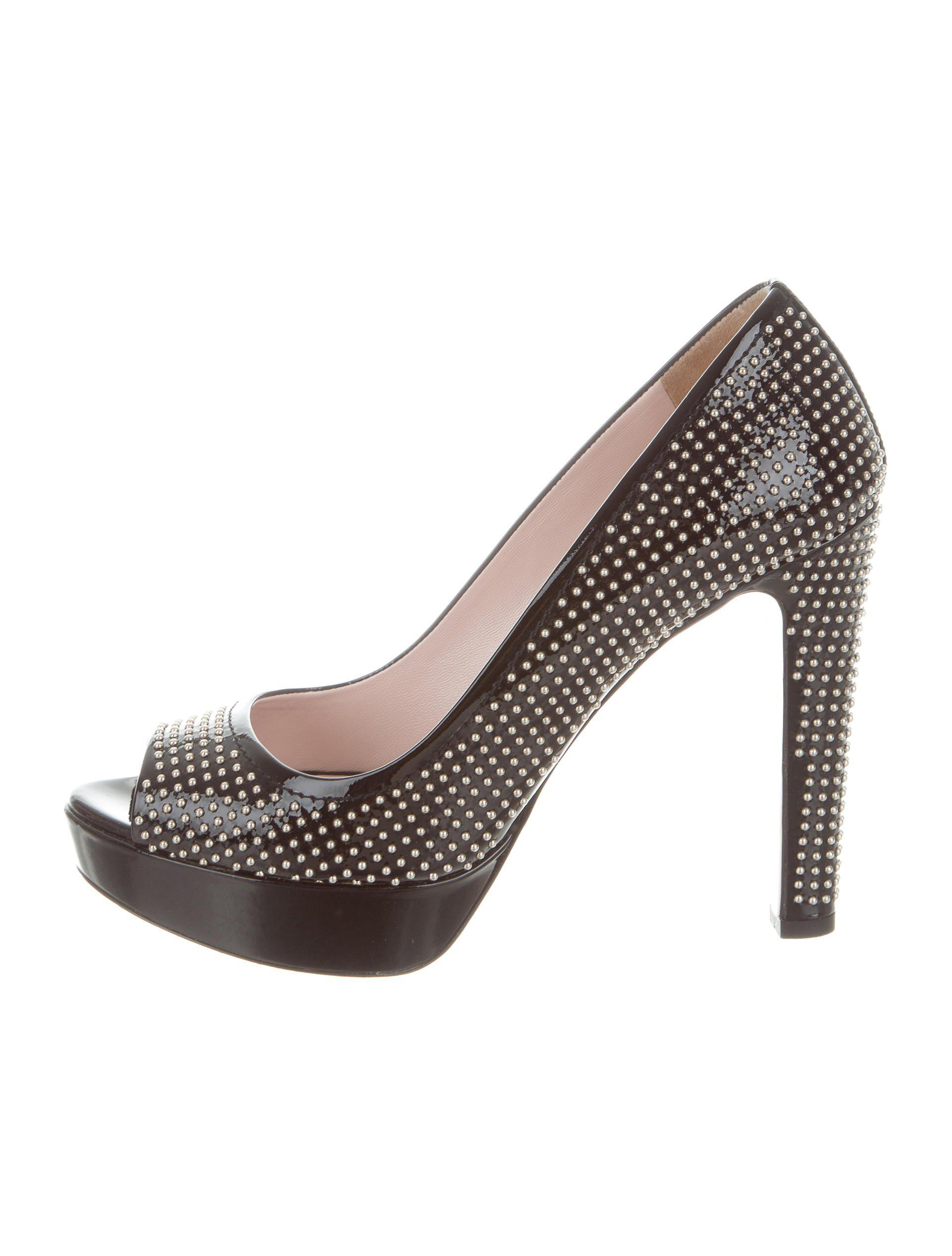 studded heel pumps - Metallic Miu Miu Sale 100% Original Visit New Online Discount Purchase Cheap Wholesale uPx7pb