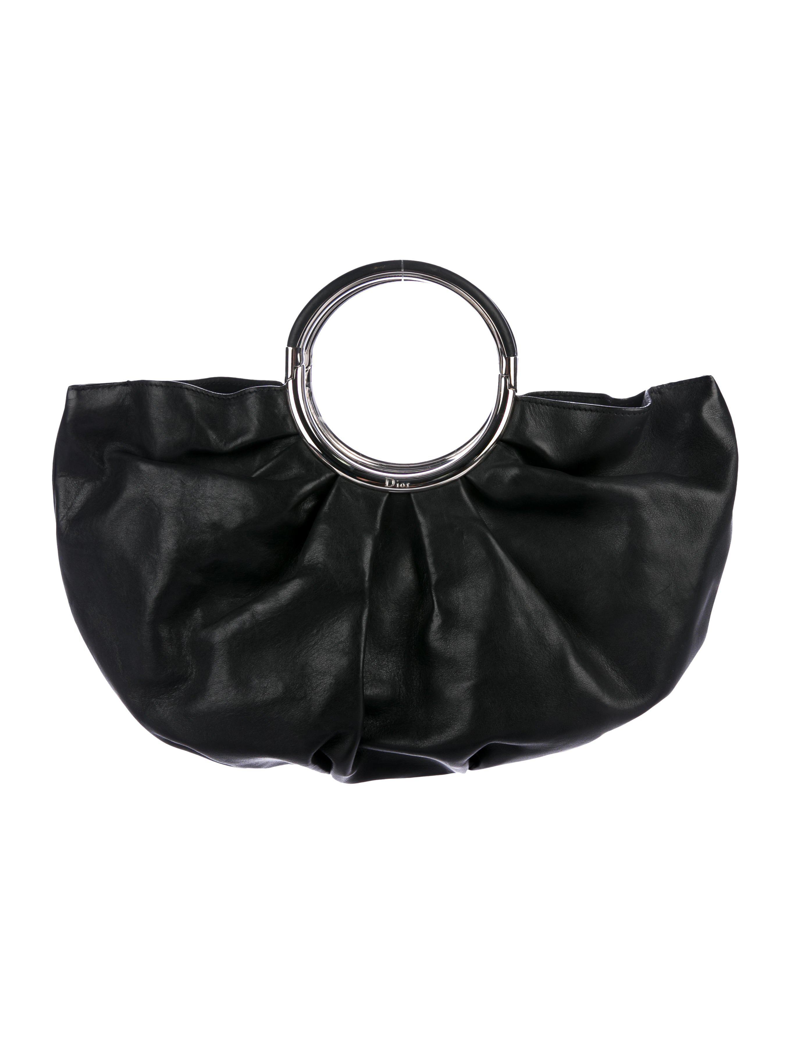 fb0fefbb405f Dior - Metallic Babe Leather Hobo Black - Lyst. View fullscreen