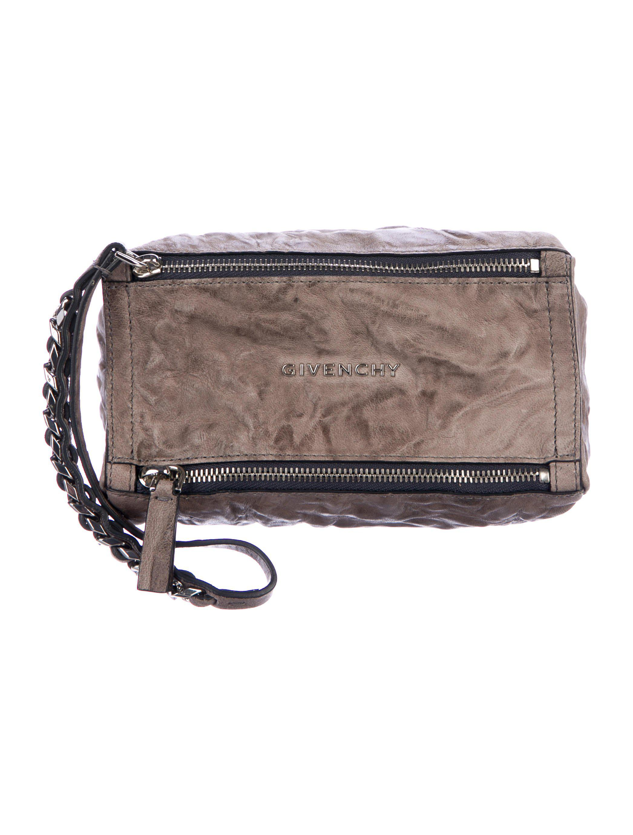 8036caefb66c Lyst - Givenchy Leather Pandora Pouch Silver in Metallic