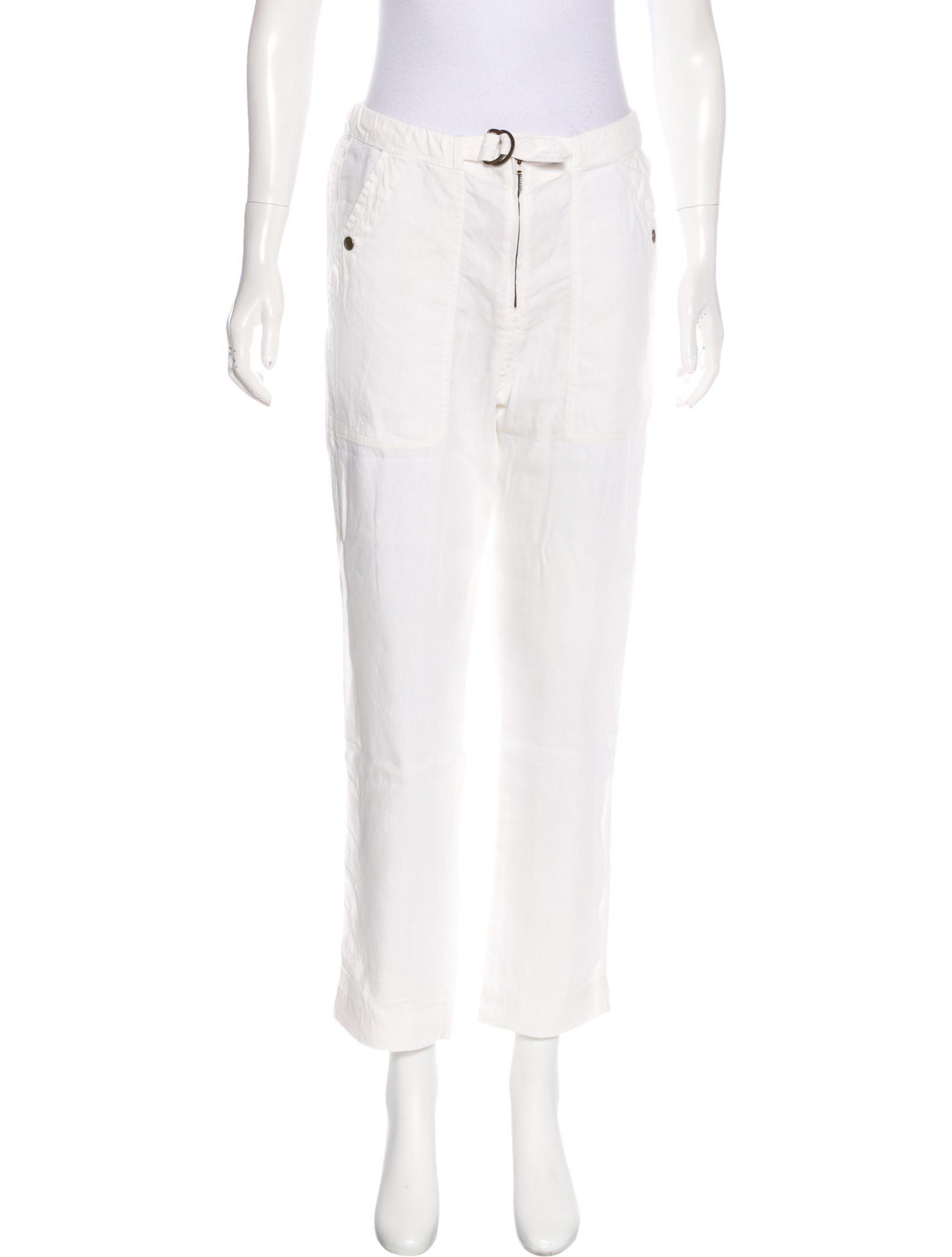 Isabel Marant High-Rise Straight-Leg Pants w/ Tags Free Shipping Best Sale FdTDRJNwU0