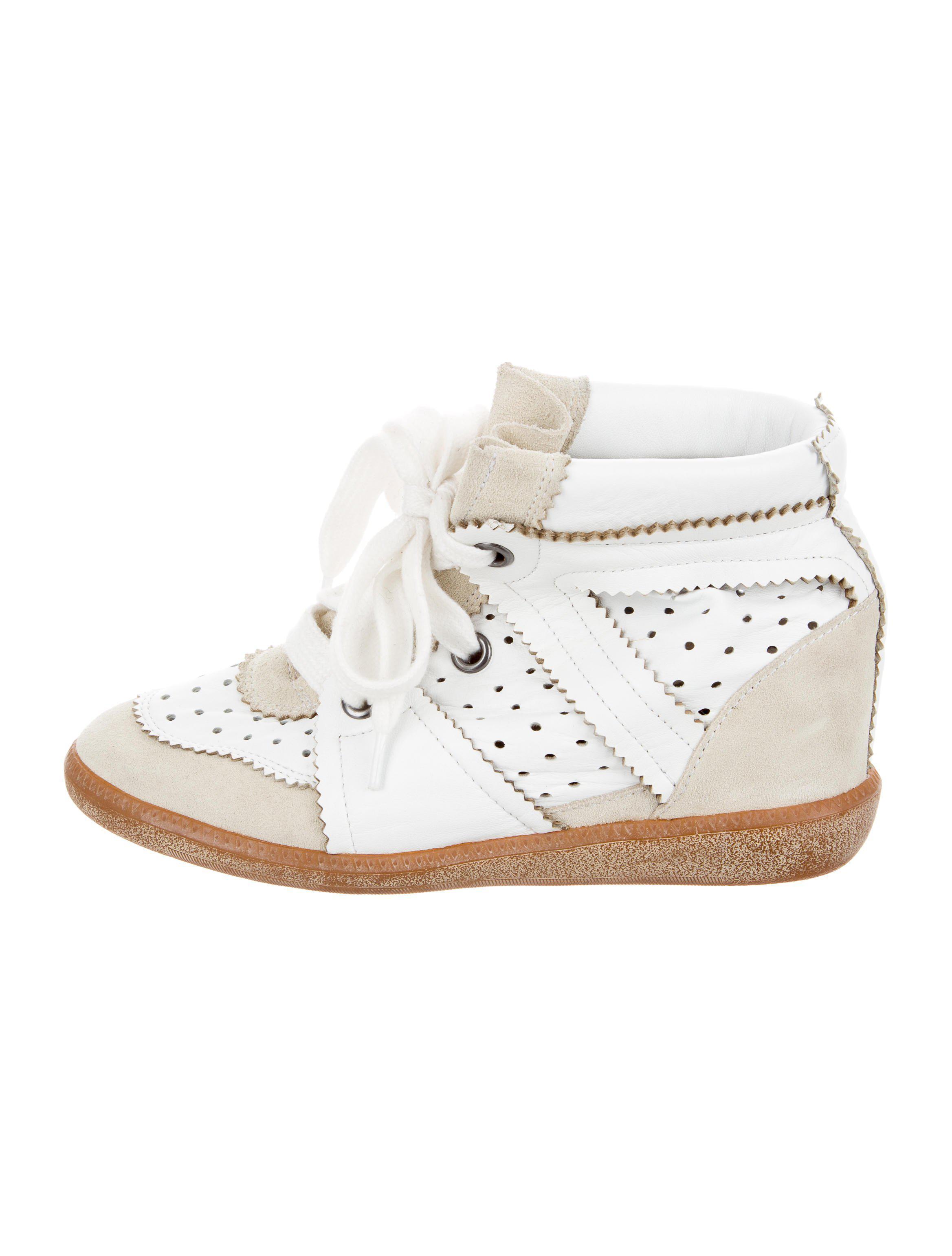 Isabel Marant Betty Beige 50 Chaussures De Sport De Cale - Blanc C0Aodb