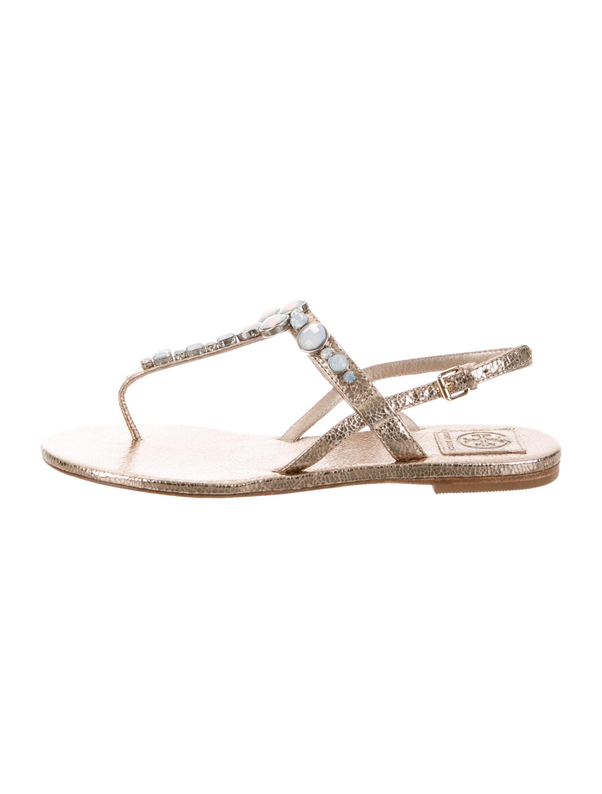 f2d458231d80 Lyst - Tory Burch Adalynn Embellished Sandals W  Tags Gold in Metallic