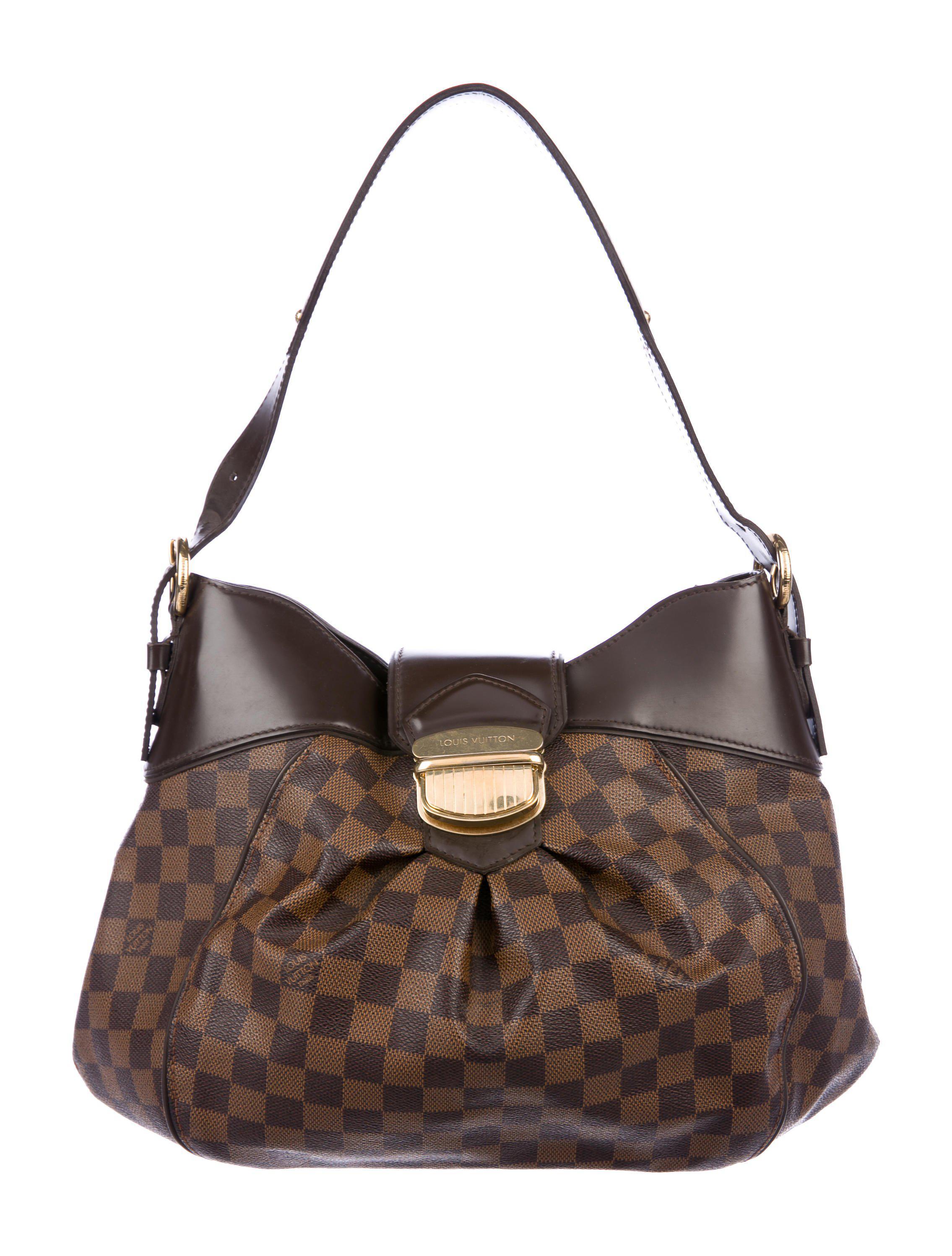 30f65e9cb217 Lyst - Louis Vuitton Damier Ebene Sistina Mm Brown in Natural