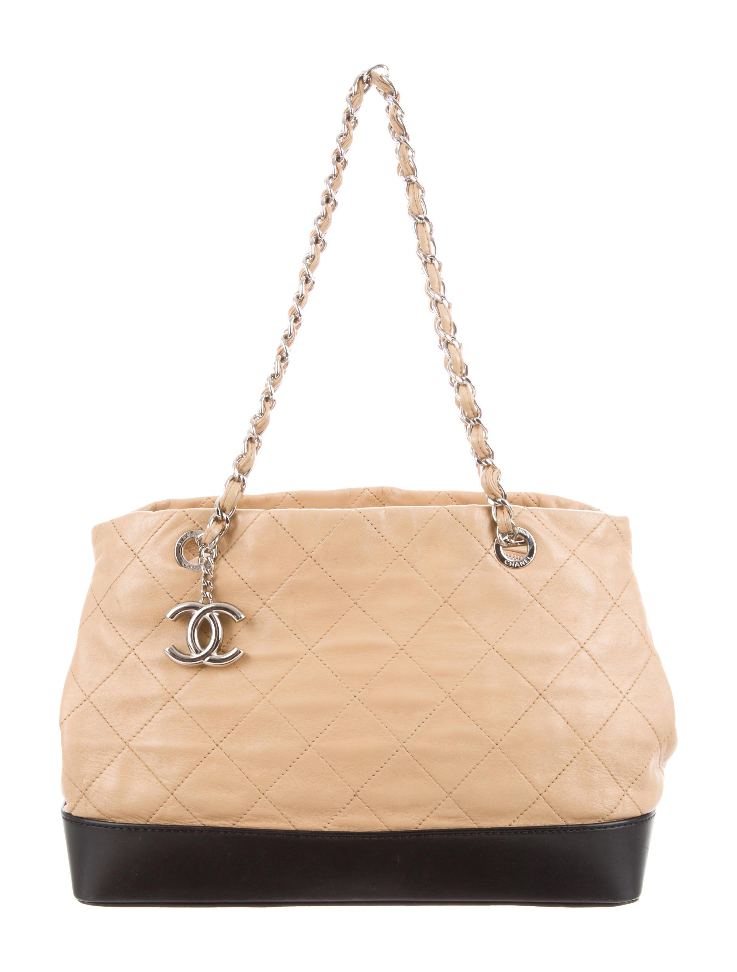 cae3ed2d3b80 Lyst - Chanel Quilted Vip Bag Tan in Metallic
