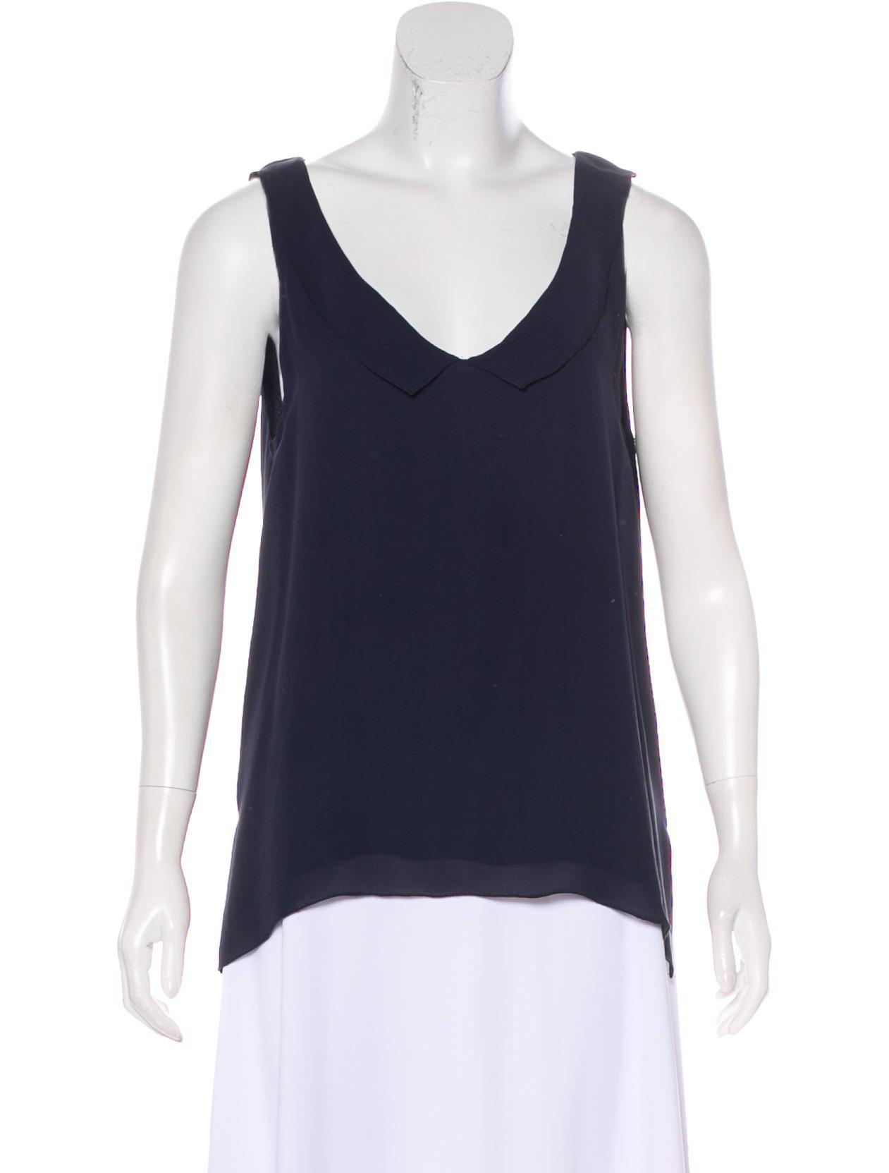 L'Agence Silk Sleeveless Top Clearance Browse View Online Cheap Low Price Cheap Sale Shop dqoG6X