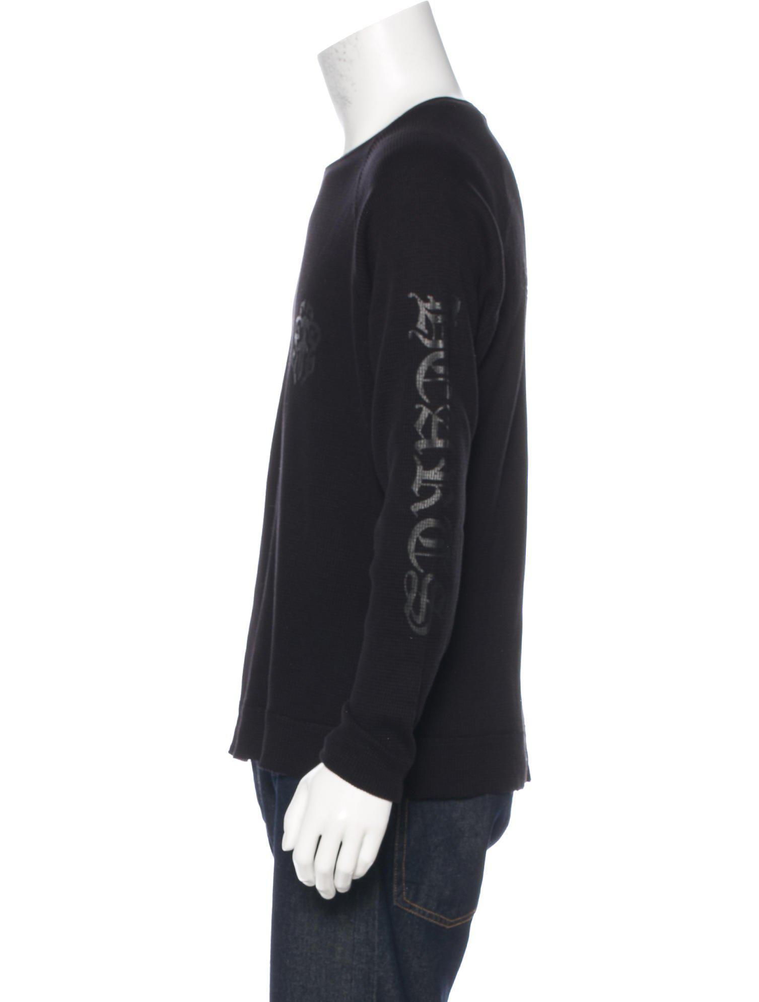 ae417a0dfdd6 Chrome Hearts - Black Long Sleeve Thermal T-shirt for Men - Lyst. View  fullscreen