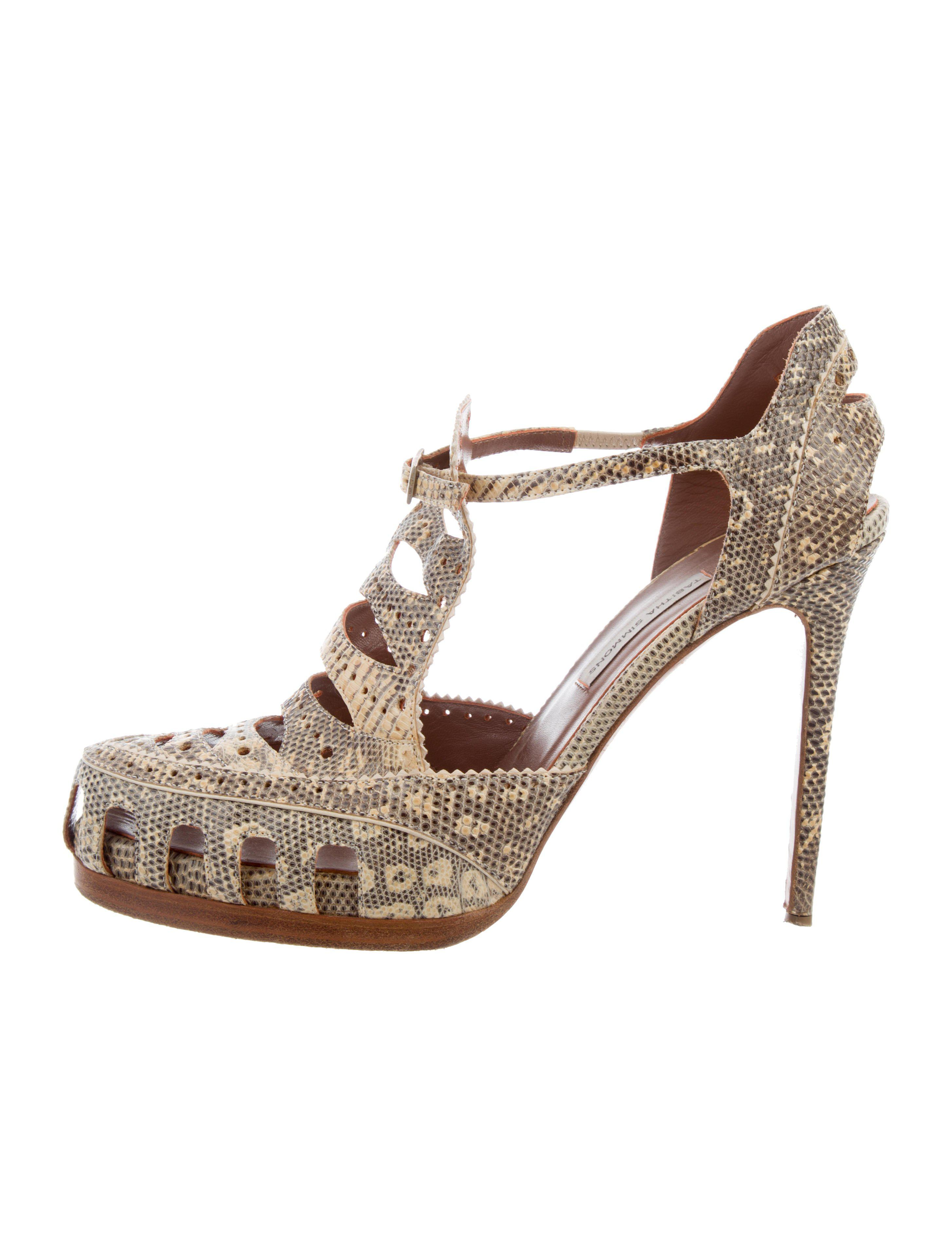 Tabitha Simmons Lizard Cutout Pumps free shipping low price fee shipping 1uHIX