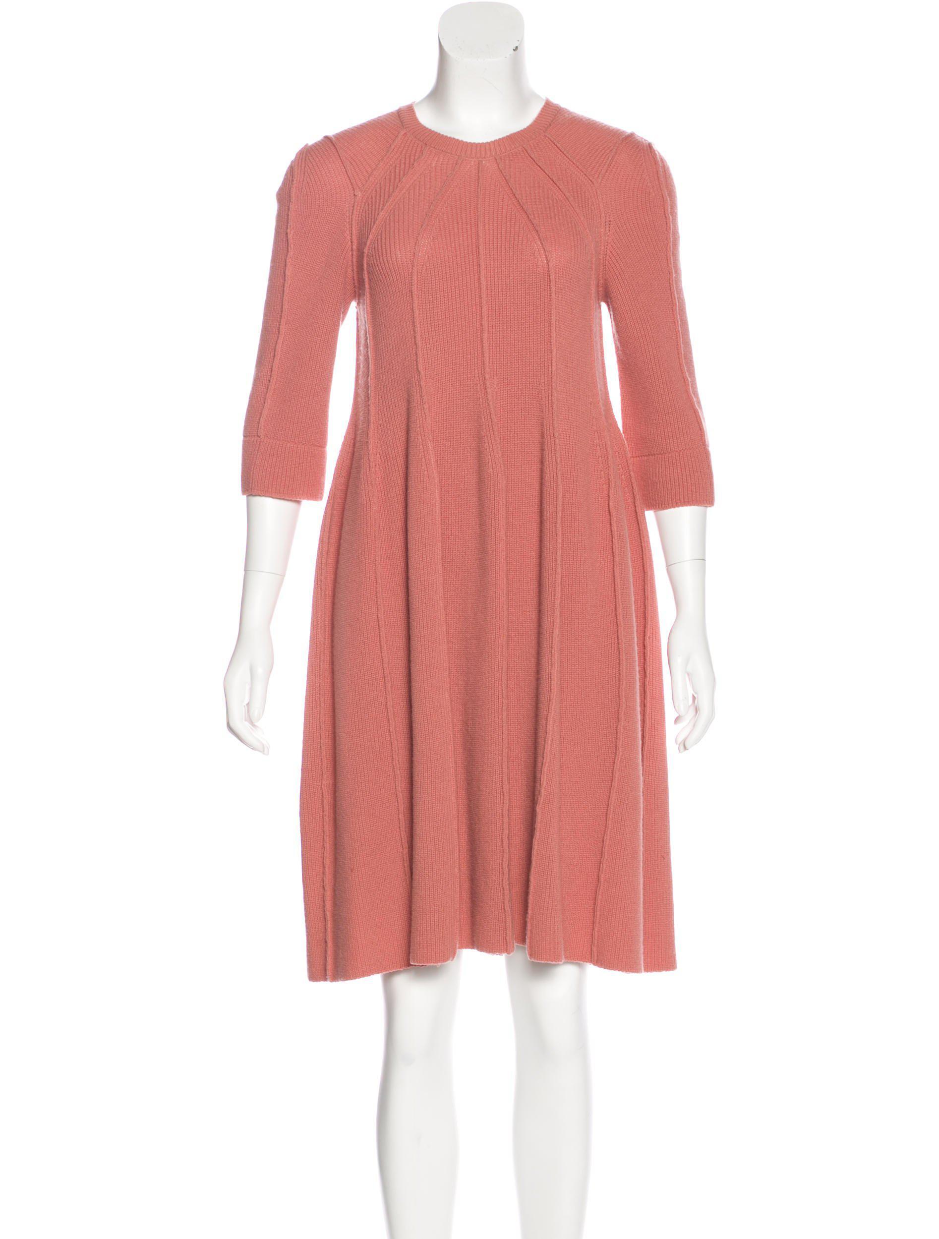 205048c64b5ea5 Lyst - Sonia Rykiel Wool Knit Knee-length Dress in Pink
