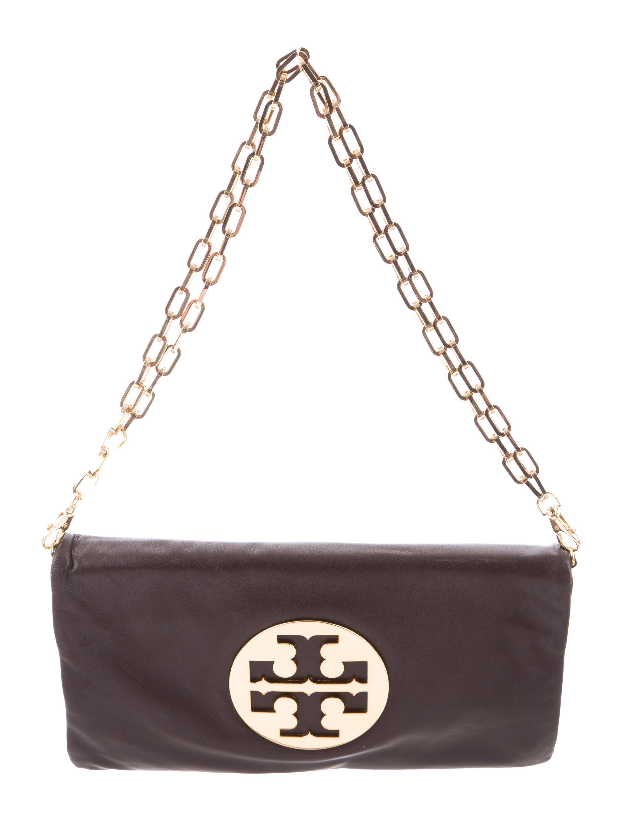 9183bce827a Lyst - Tory Burch Leather Logo Bag Brown in Metallic