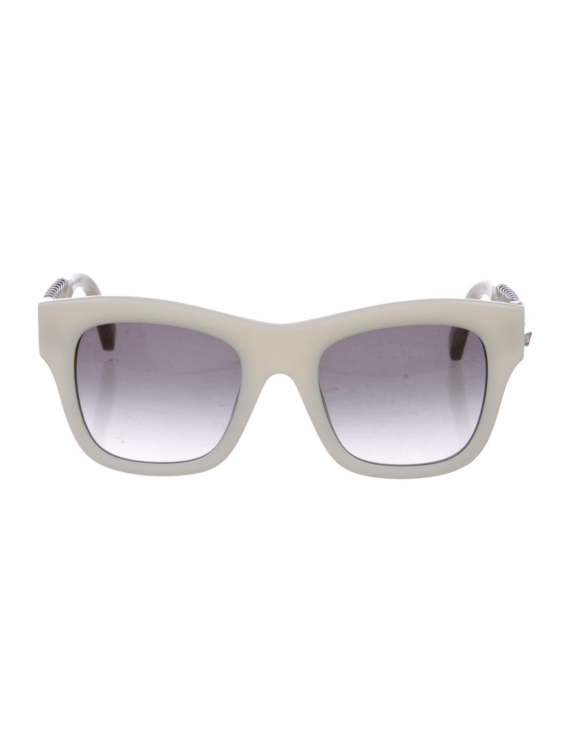80010effd Stella McCartney. Women's Metallic Square-frame Gradient Sunglasses White