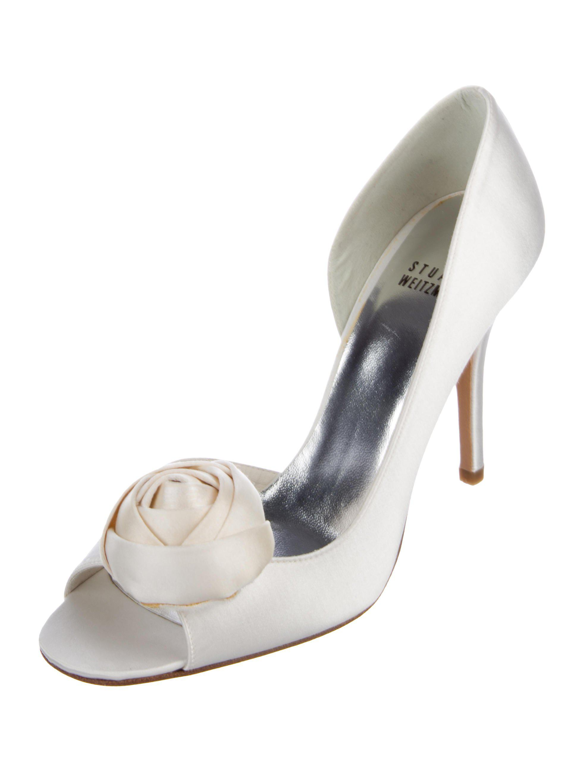 Stuart Weitzman Pomposo Satin Pumps w/ Tags geniue stockist cheap price best store to get online for sale sale online pre order cheap price with credit card free shipping Vl2NjGc
