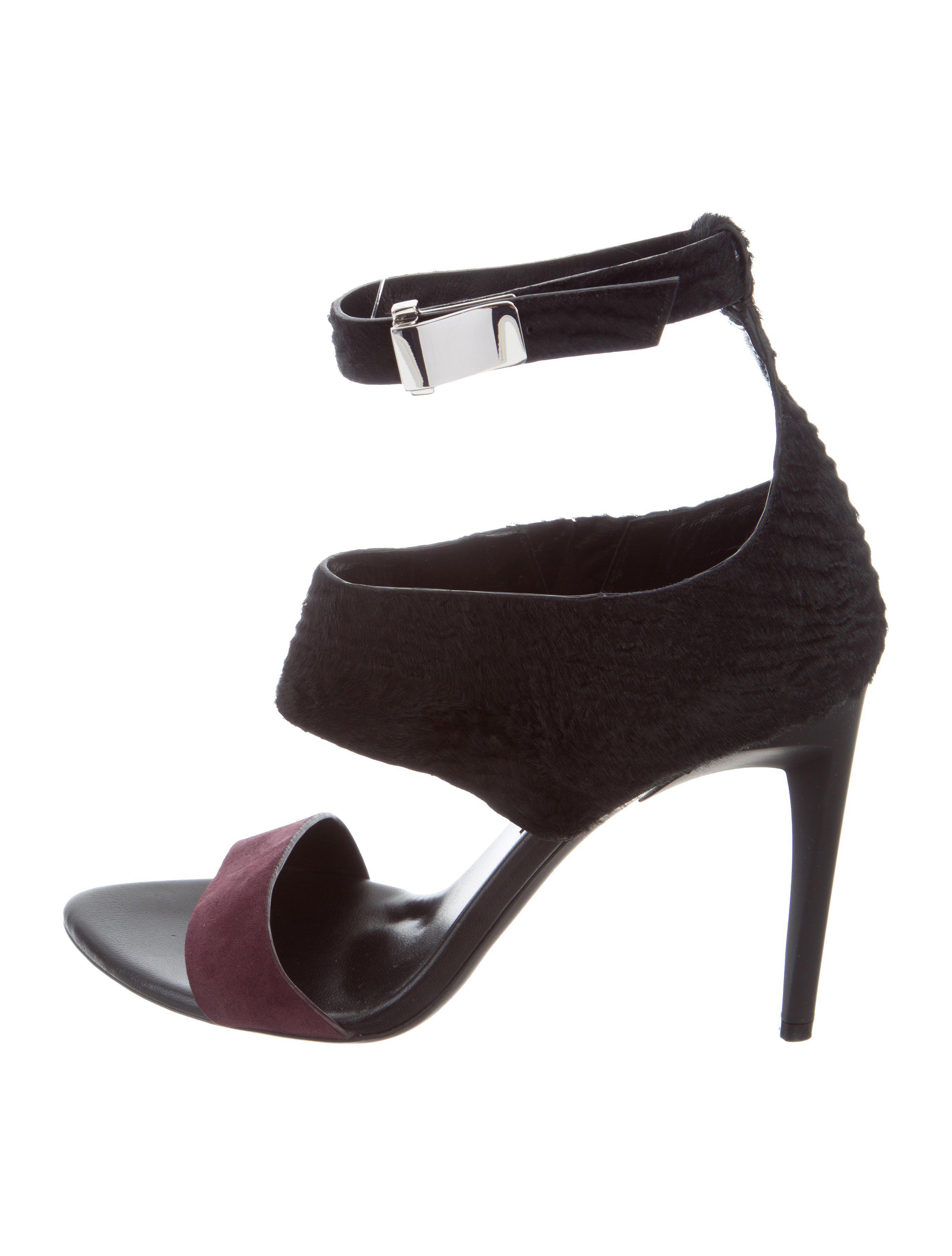 Proenza Schouler Zebra Ponyhair Sandals w/ Tags pick a best 2WxNDLG