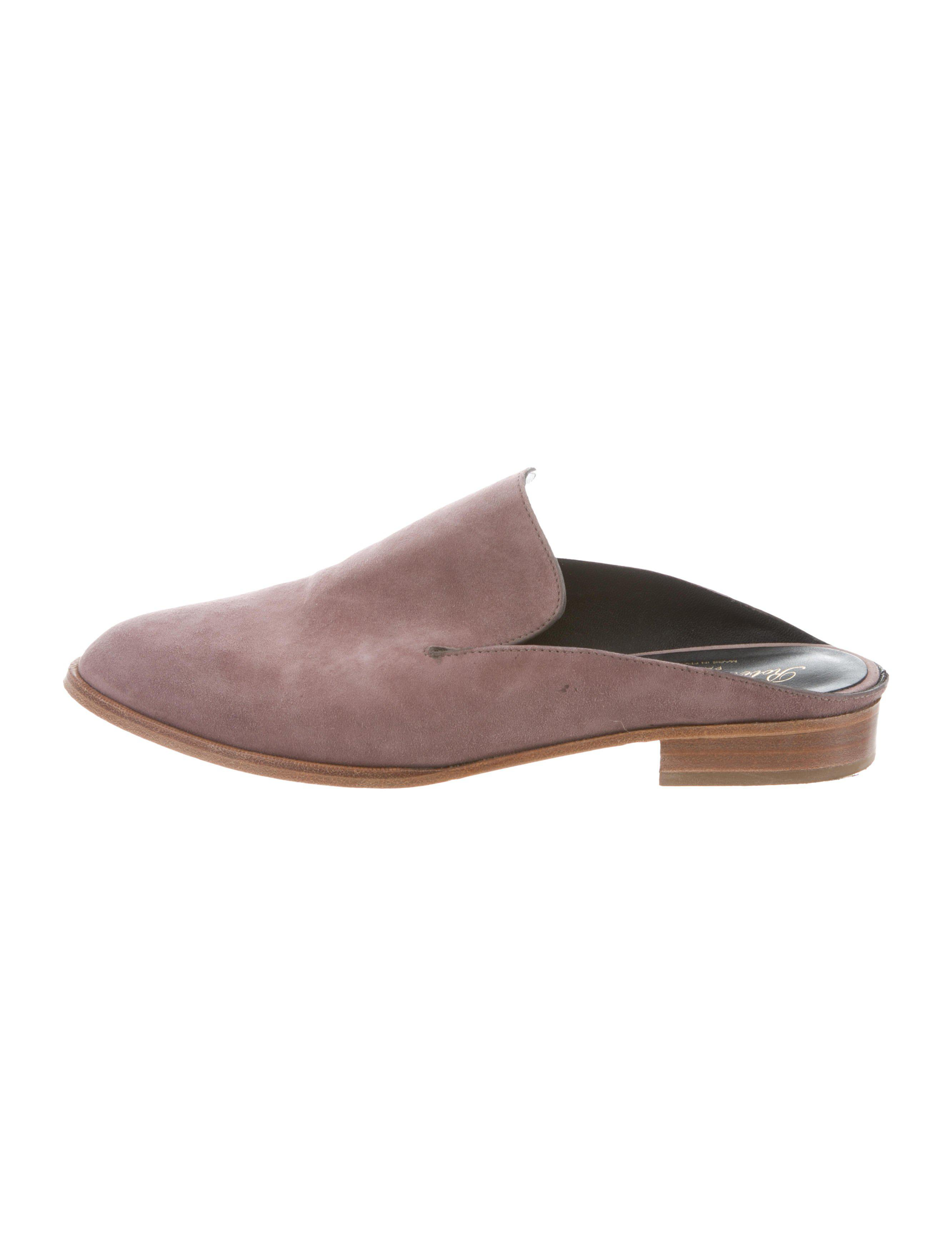 Robert Clergerie Clergerie Paris Suede Pointed-Toe Mules fashionable online shHB54xof