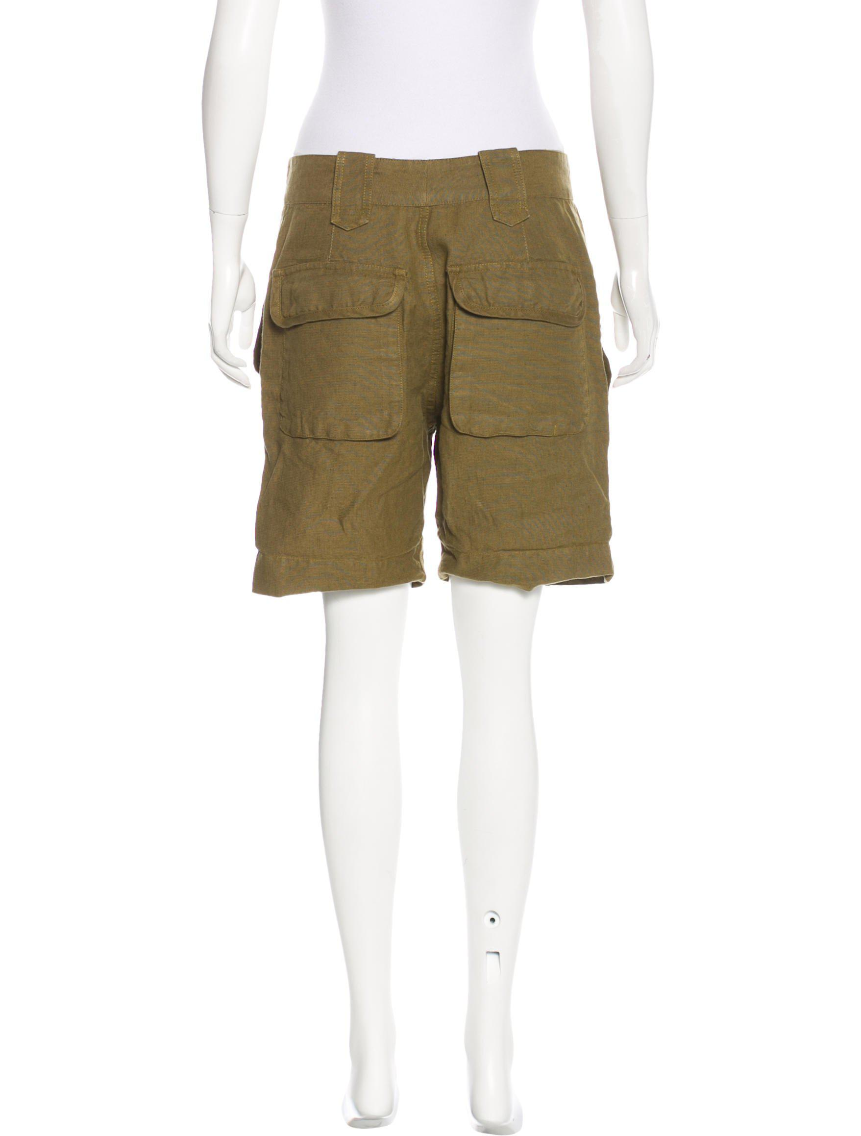 962be8fa4e Lyst - Isabel Marant Linen High-rise Shorts Olive in Green