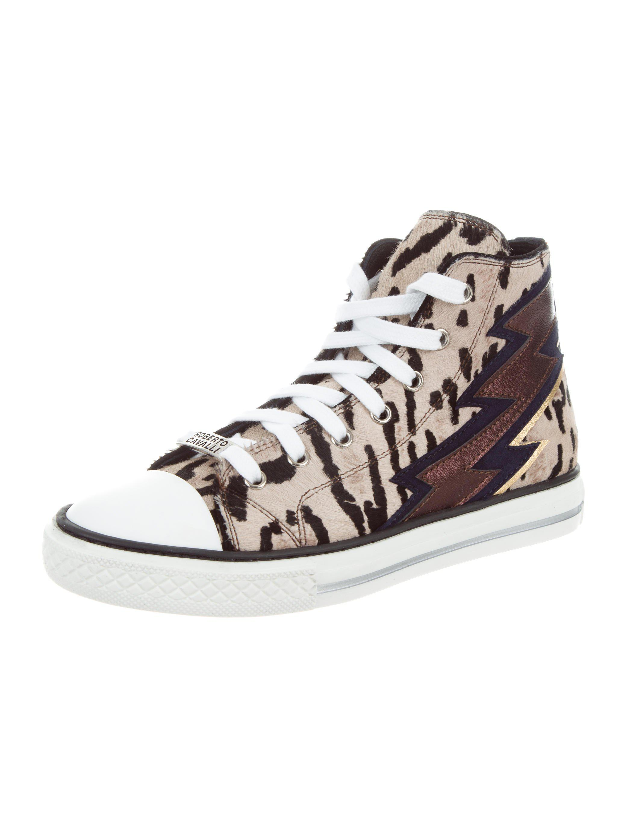 very cheap cheap online free shipping outlet locations Roberto Cavalli Ponyhair High-Top Sneakers w/ Tags Pre-Fall 2016 cheap really cheap price top quality new cheap price 22hDeIO