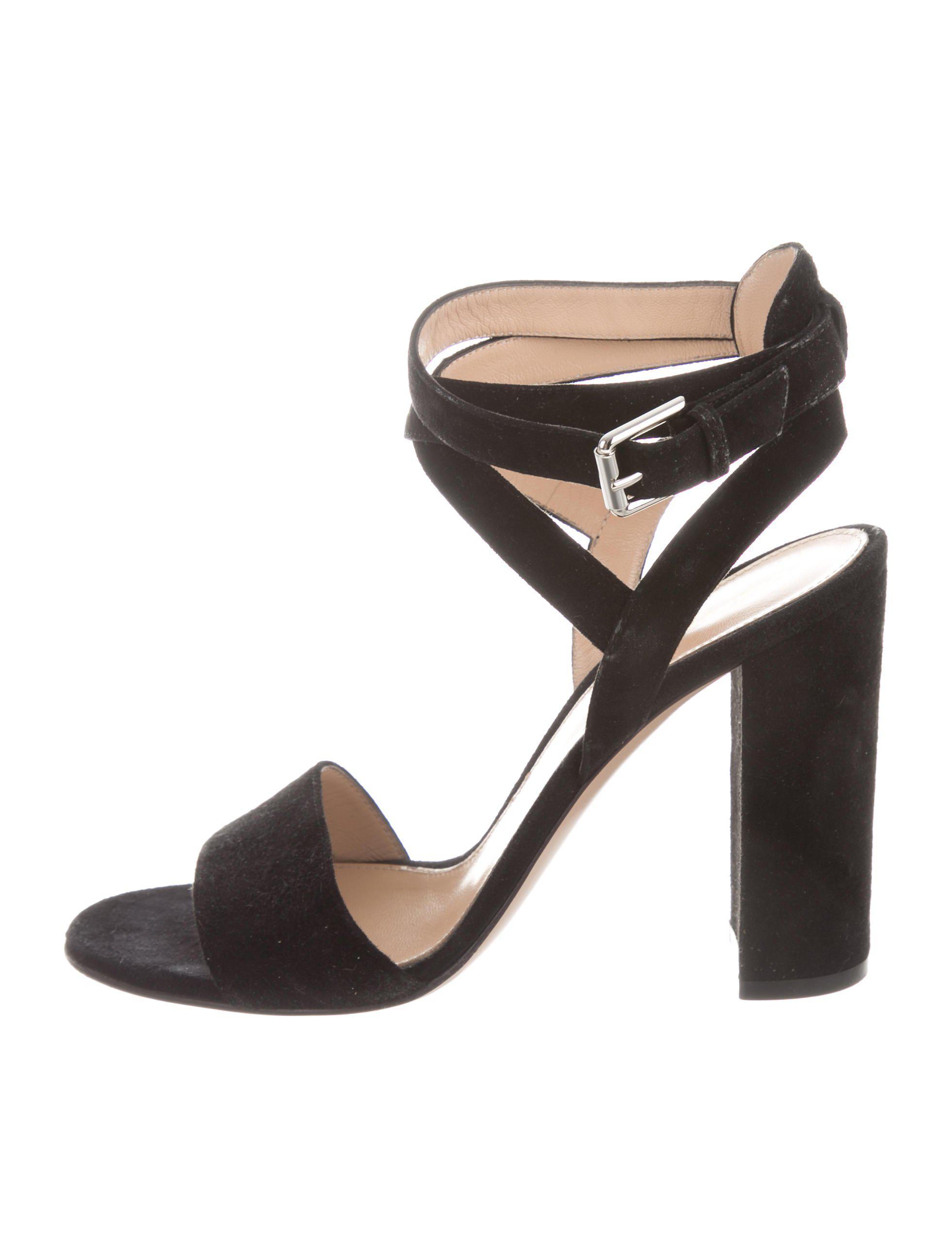 Gianvito Rossi Suede Multistrap Sandals outlet sale ARA2m6Sx