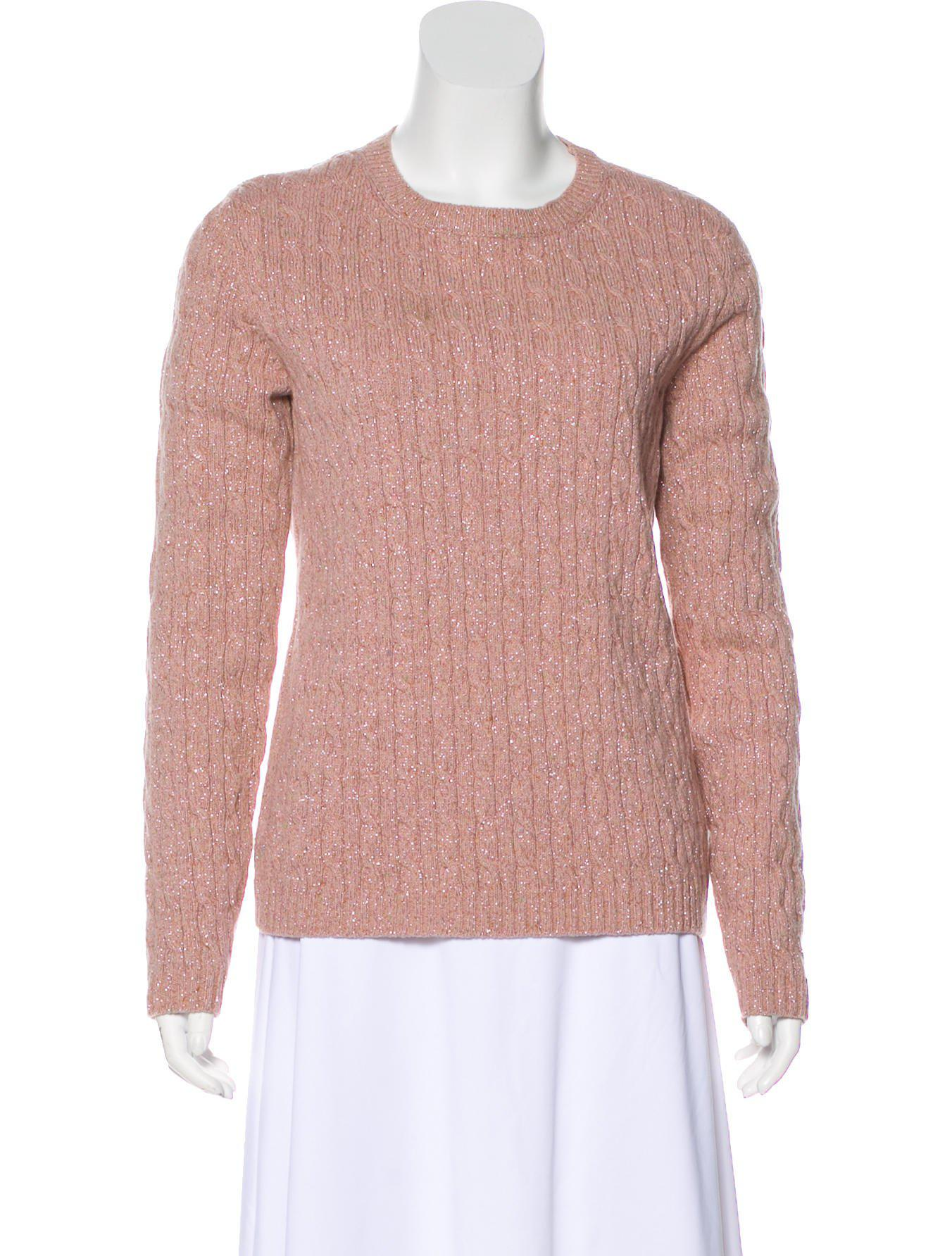 c6ac9dcb51ed Lyst - Red Valentino Wool Cable Knit Sweater in Pink