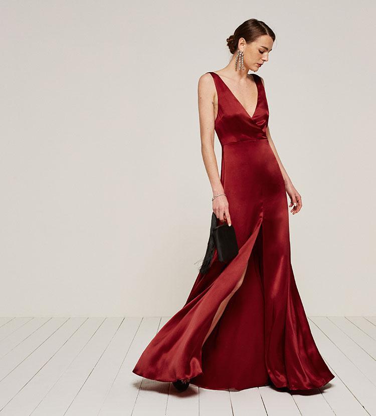 b01090d032f3 Reformation Eliana Dress in Red - Lyst