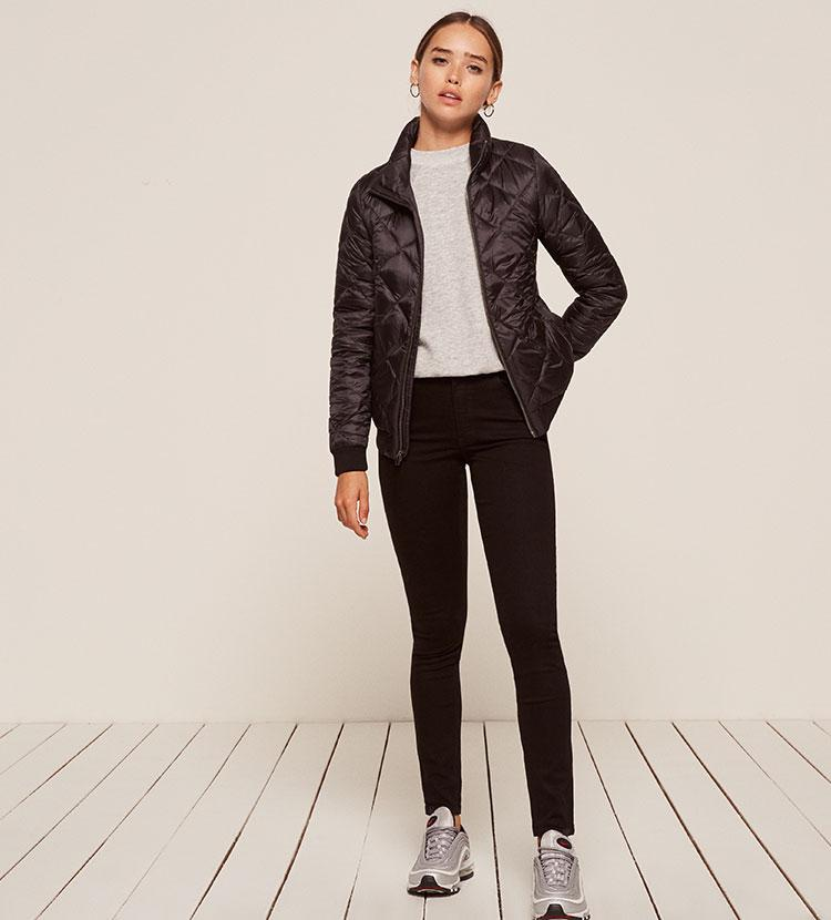 c1041a716 Reformation Black Patagonia Prow Bomber Jacket