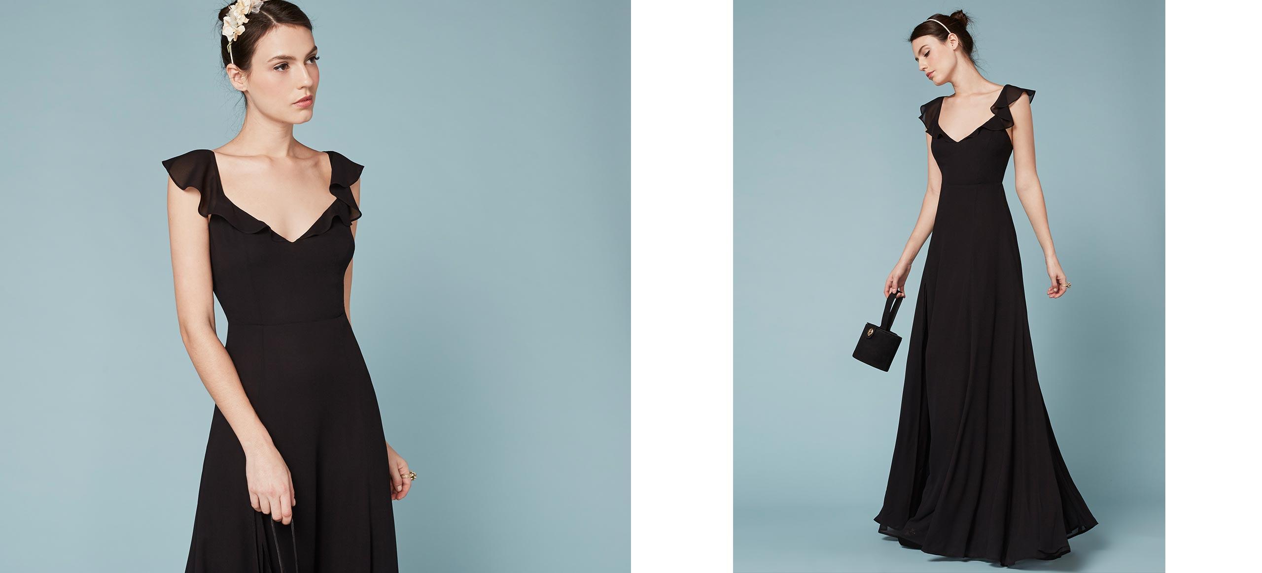 Lyst - Reformation Julieta Dress in Black