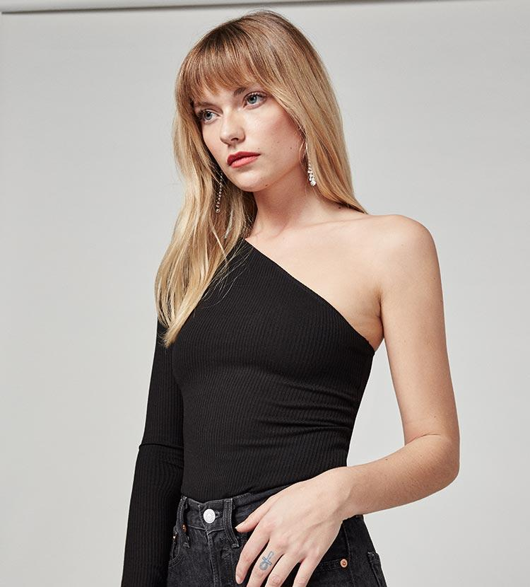 Reformation Synthetic Stewart Top in Black