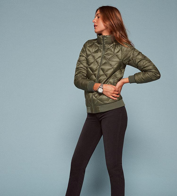 354440af2 Reformation Patagonia Prow Bomber Jacket in Green - Lyst