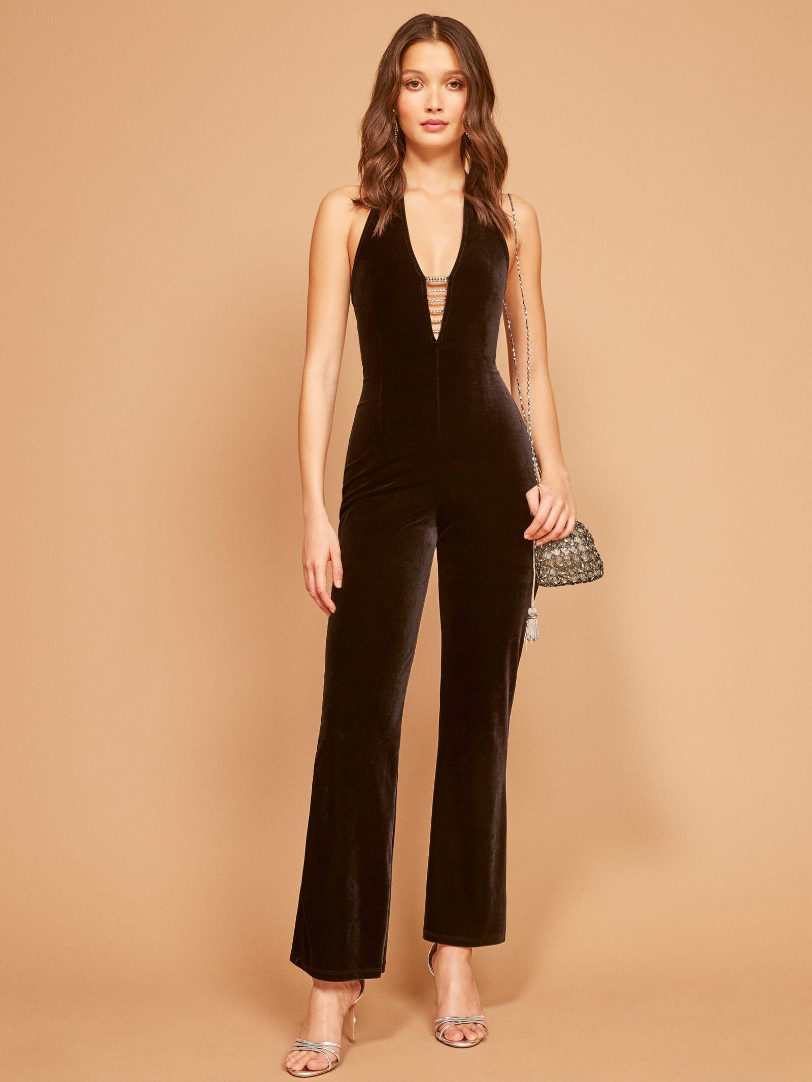 99a9bc47a9 Lyst - Reformation Vintage Minx Jumpsuit in Black