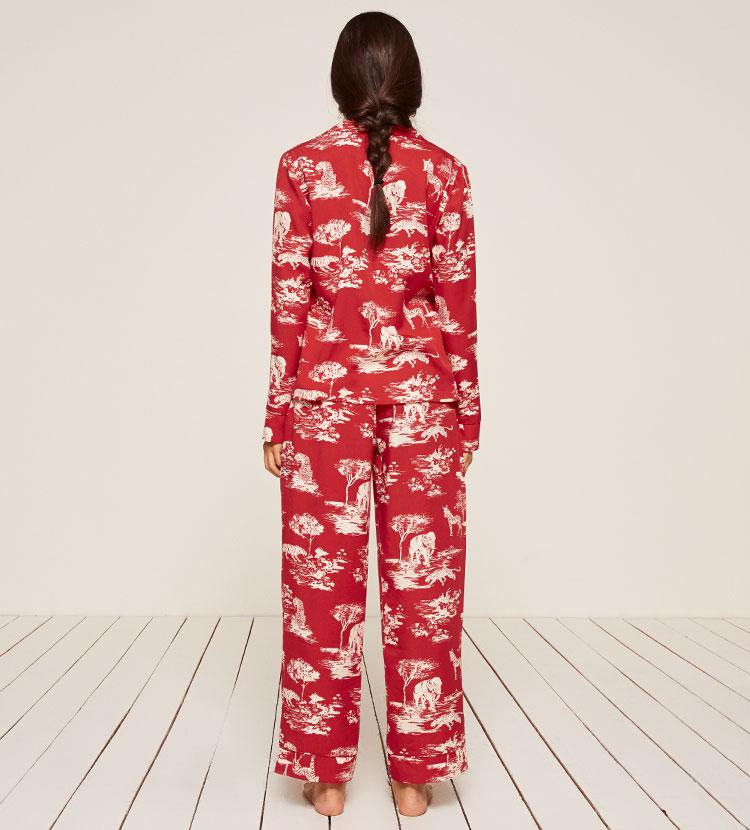 Reformation Pajama Set in Red - Lyst