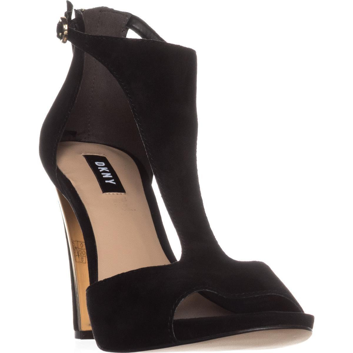 Lyst Dkny Colby T Strap Dress Sandals In Black