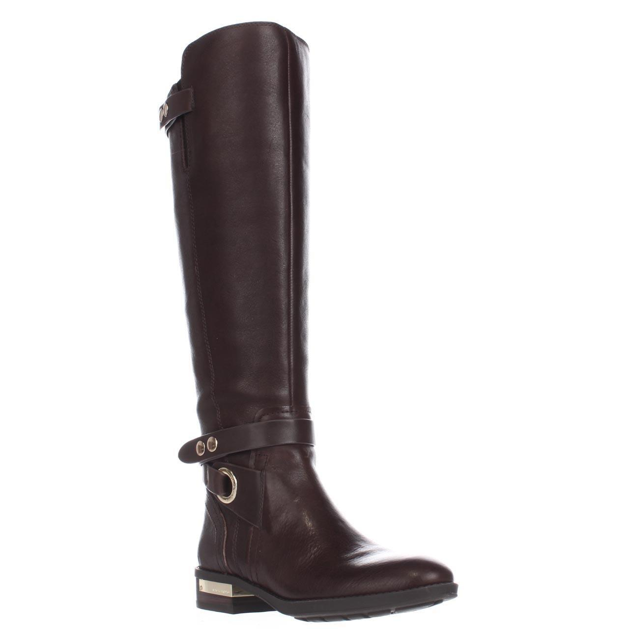 vince camuto prini wide calf boots in brown lyst
