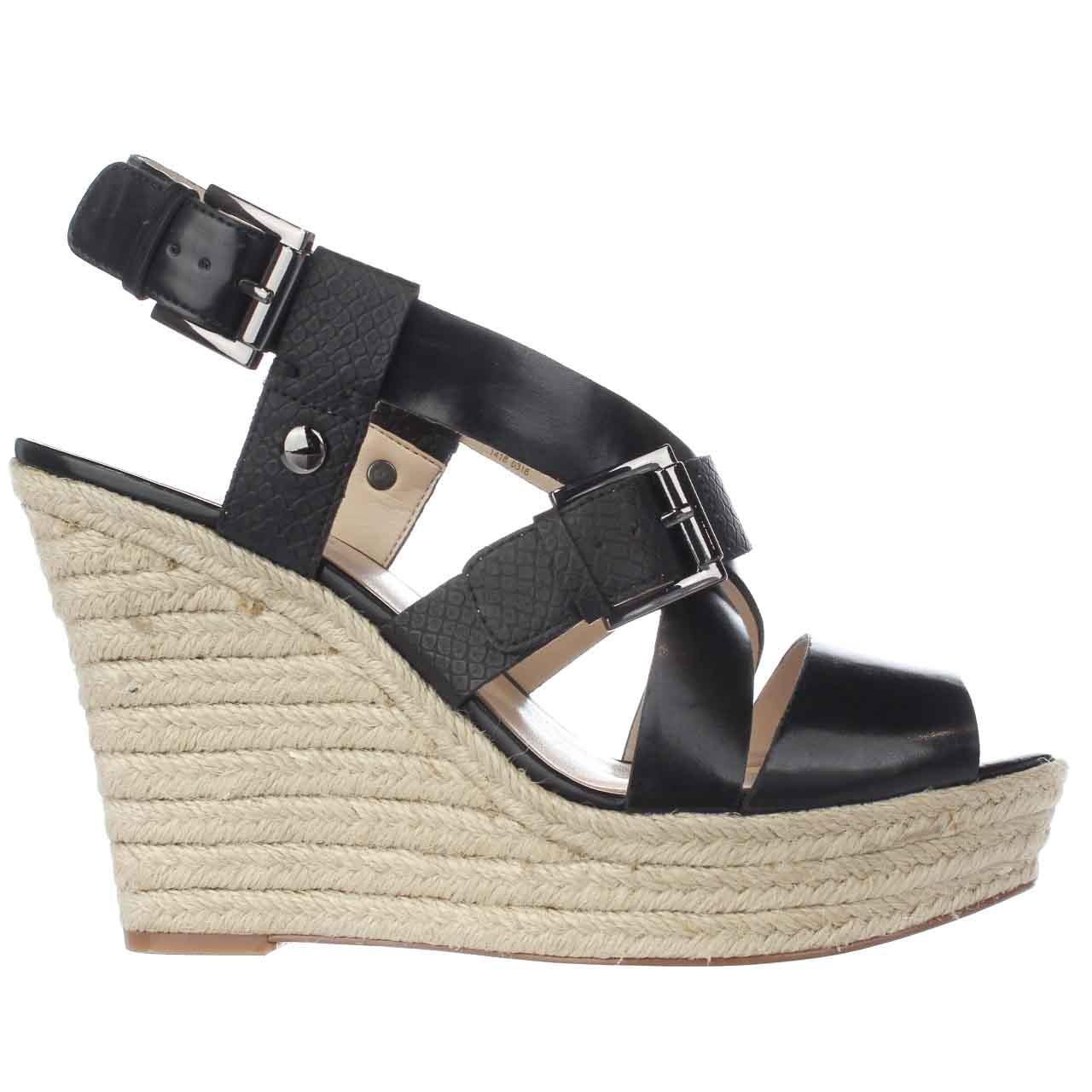 Lyst Nine West Jentri Wedge Sandals In Black