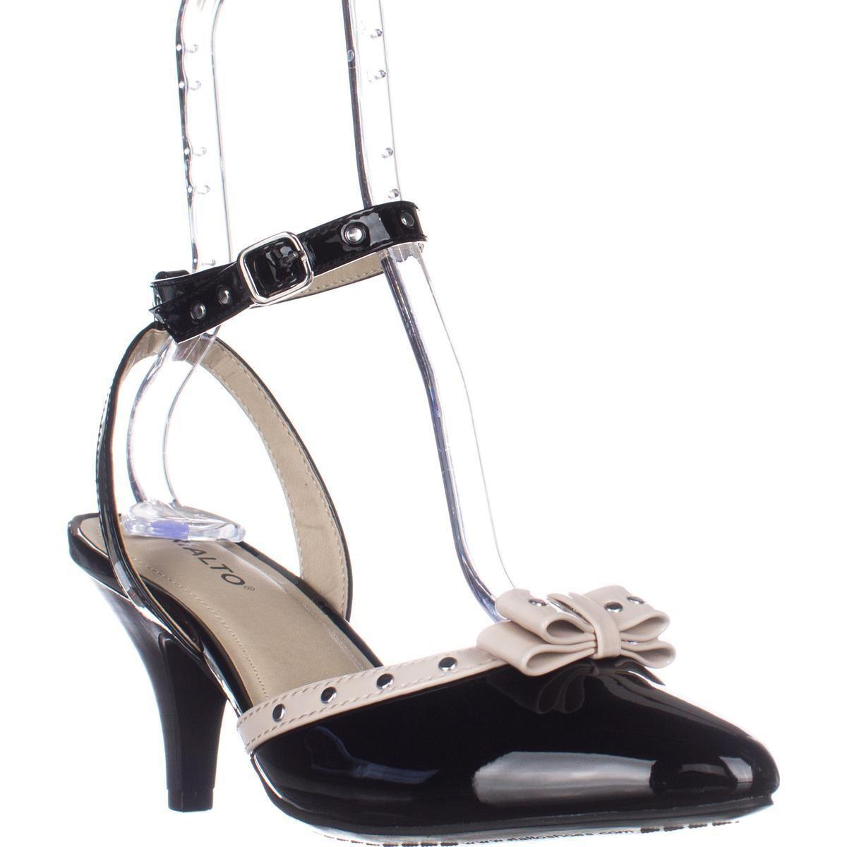 a521485afd5 Lyst - Rialto Maggie Ankle Strap Low-heel Pumps in Black