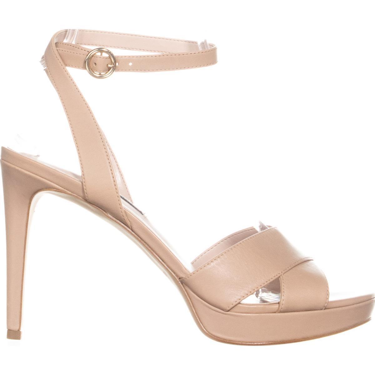 ec93aff2d72 Nine West Quisha Criss Cross Ankle Strap Sandals in Natural - Lyst