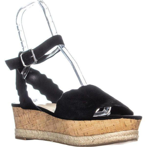 09a9b534f6c2 Lyst - Marc Fisher Faitful Platform Espadrilles Sandals in Black