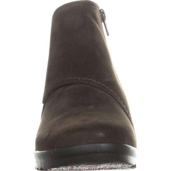 cf16a0e65177 Clarks - Brown Cloudsteppers By Caddell Rush Wedge Booties - Lyst. View  fullscreen