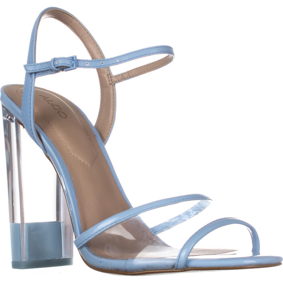 dd65a76d5b00 Lyst - Aldo Camylla Ankle Strap Block Heel Dress Sandals in Blue