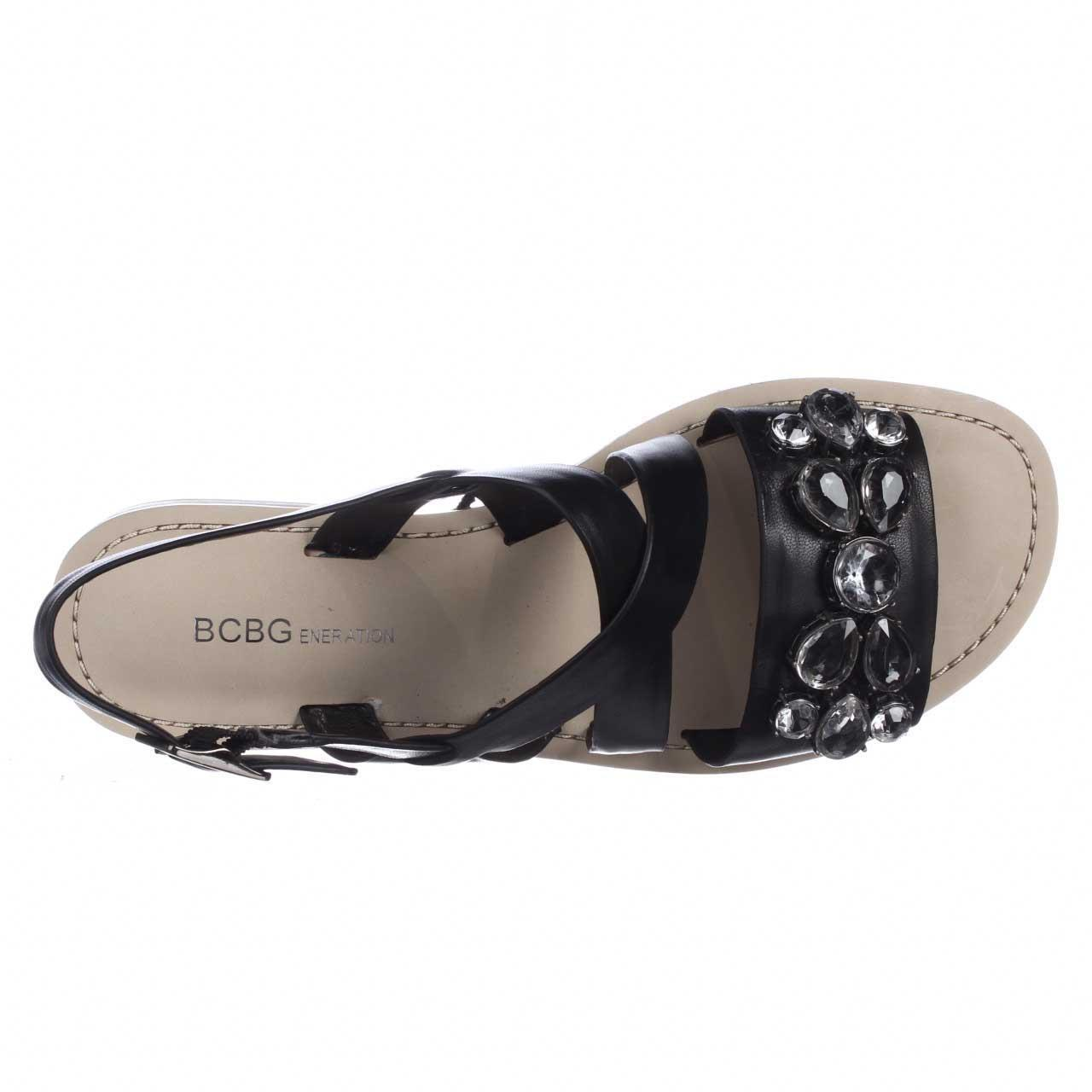 67c70e636f015 Lyst - Bcbgeneration Remmy Jeweled Flat Sandals in Black