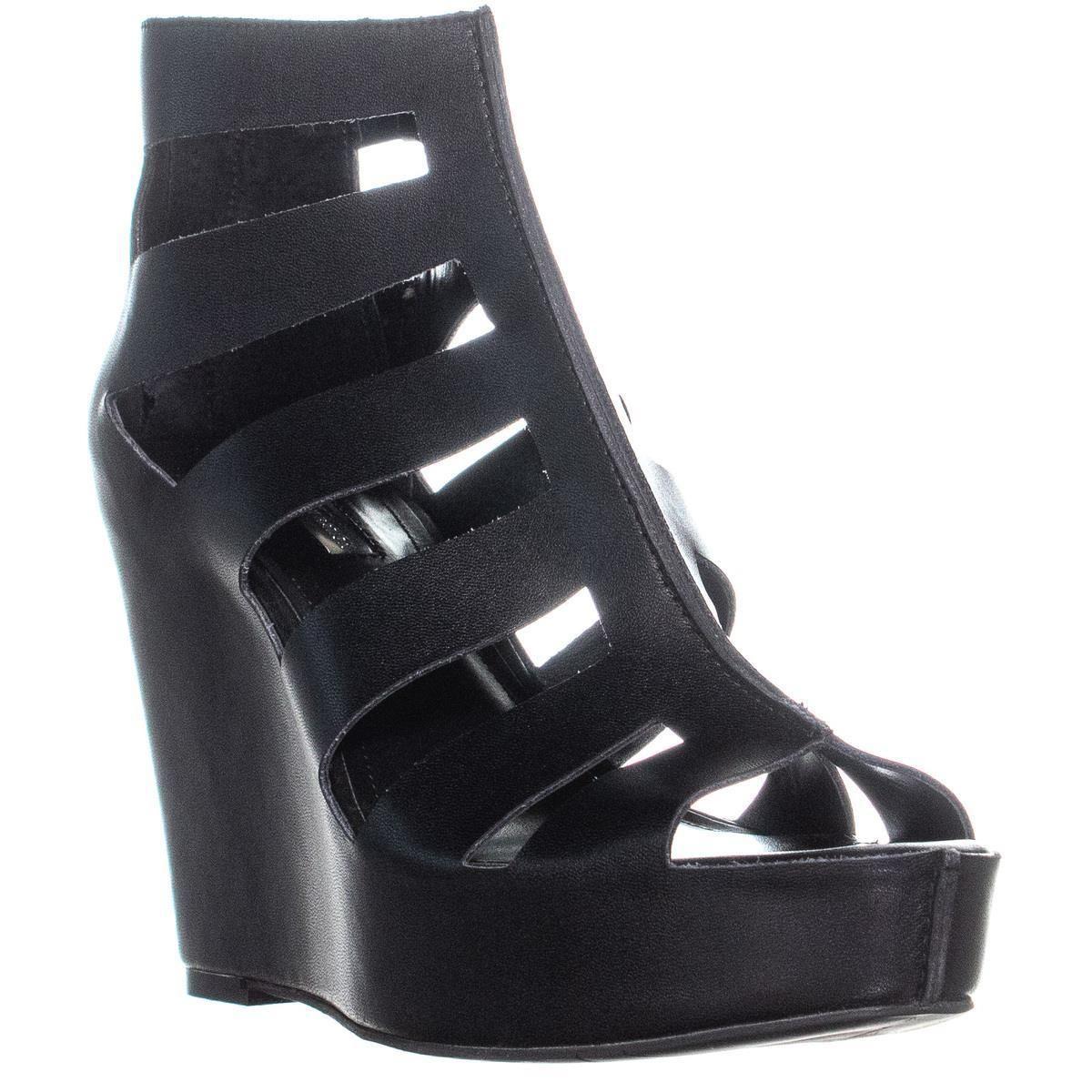 20cf9112a5 Lyst - BCBGeneration Torrez Platform Wedge Sandals in Black - Save 13%