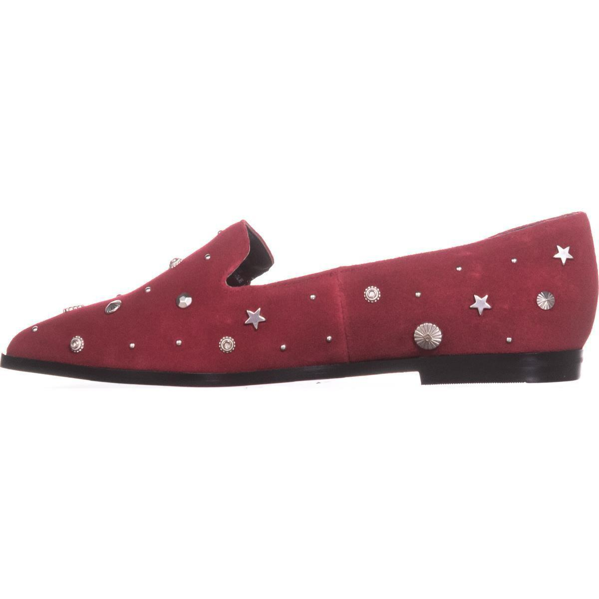 BCBGeneration BCBG Nikkola Holiday Red Suede Ornamentation Ponited Toe Flats
