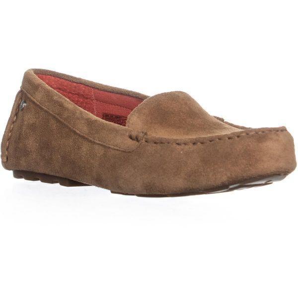 1c5b48cb5600 Lyst - Ugg UGG Milana Slip On Loafer Flats in Brown