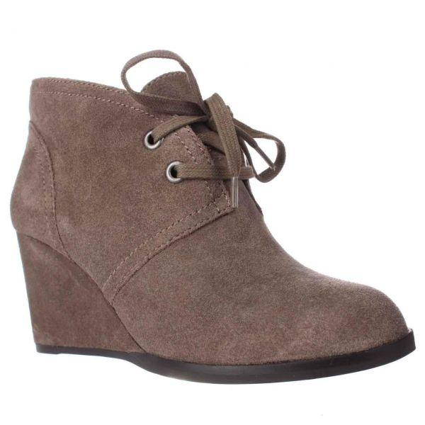2c3a0d3ef25 Lyst - Lucky Brand Seleste Lace Up Wedge Booties in Brown