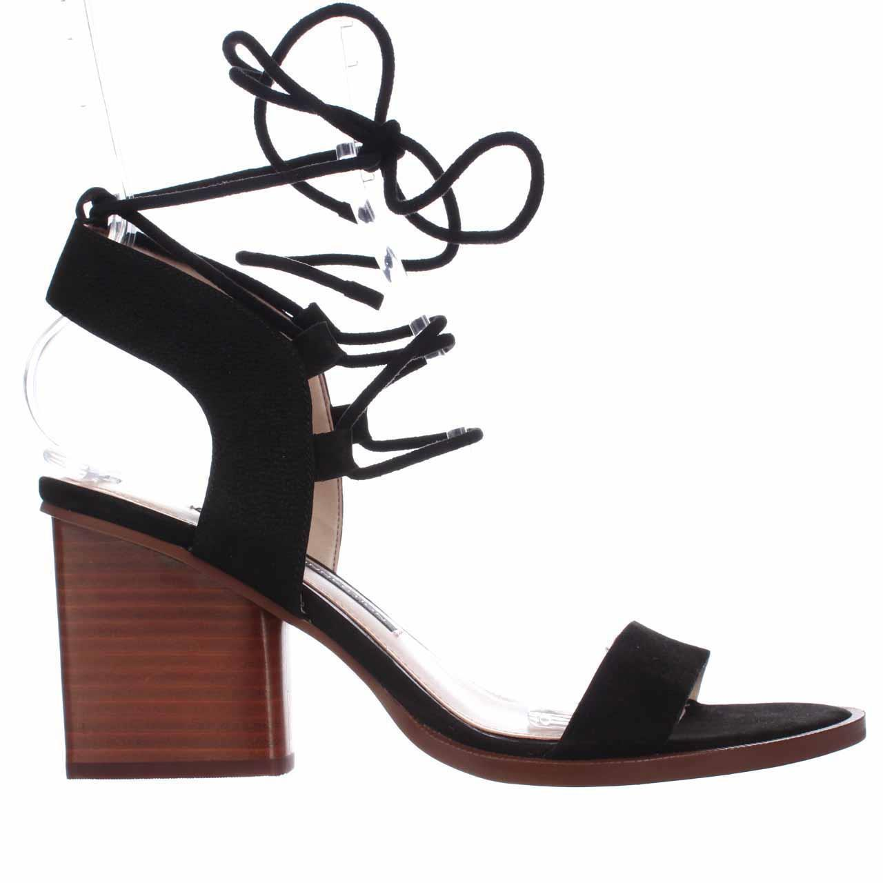 217cde8530b5 French Connection Jalena Lace Up Ankle Strap Sandals in Black - Lyst
