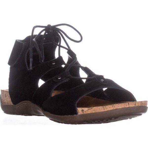 1a86f8ee062 Lyst - BEARPAW Jodie Ghillie Gladiator Sandals in Black - Save 12.5%