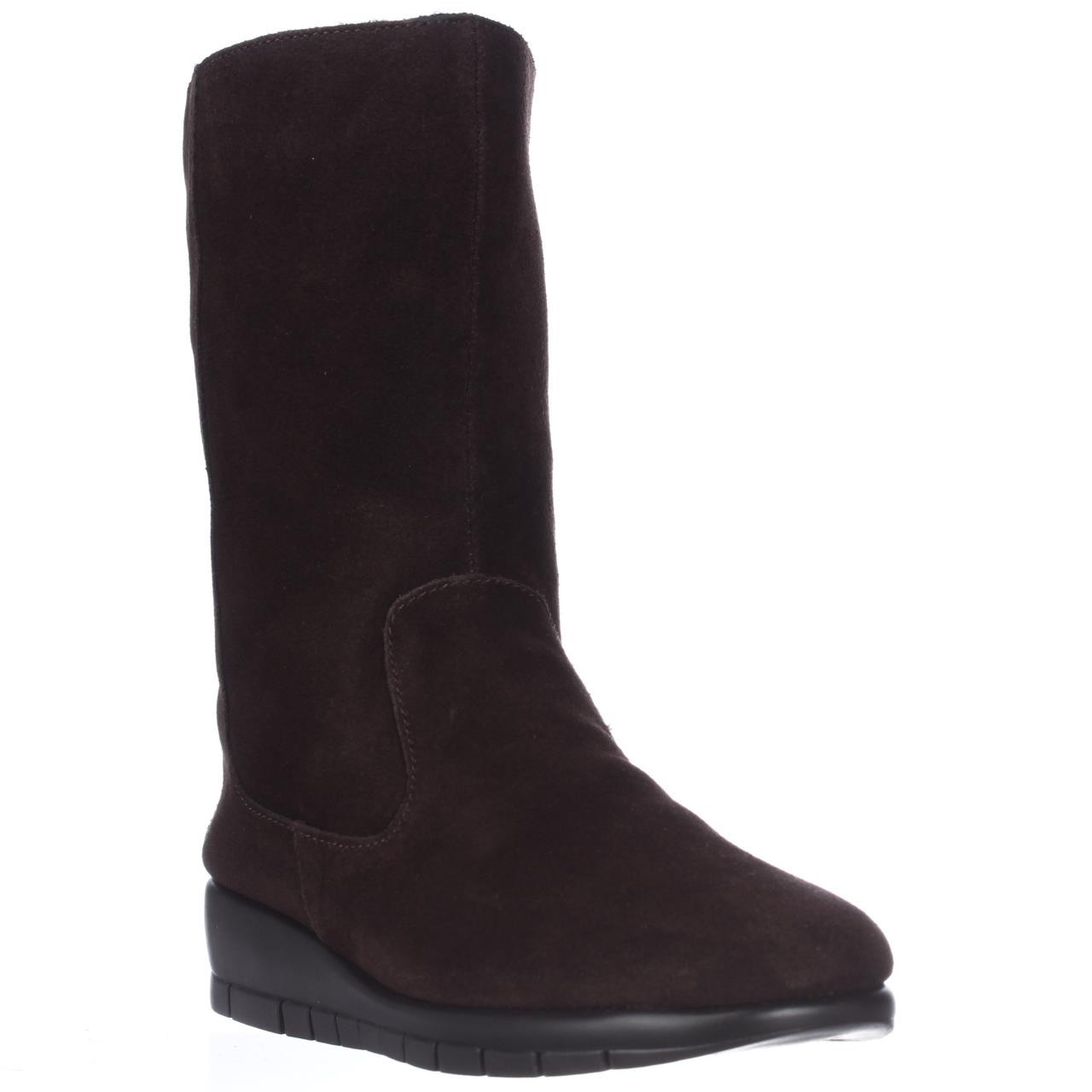 aerosoles plantation wedge winter boots in brown lyst