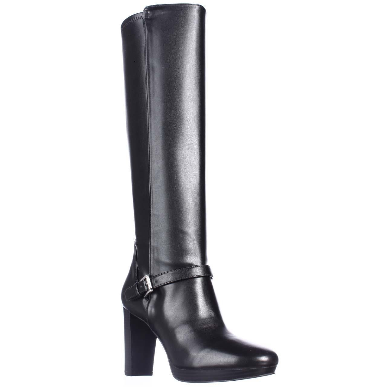 womens black suede knee high boots