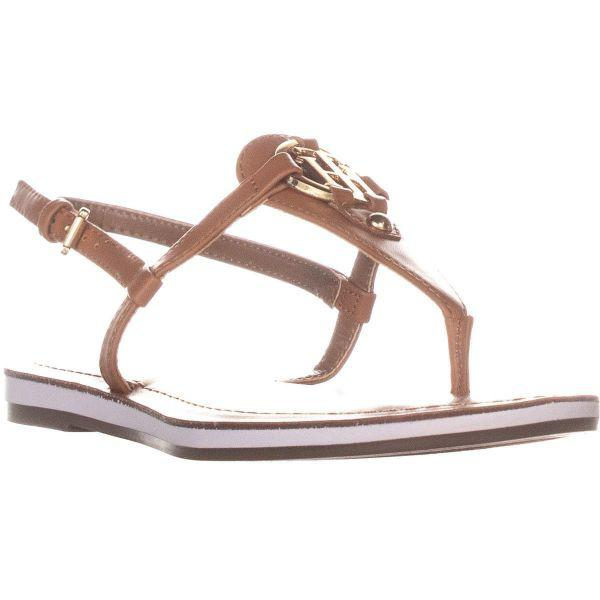 3c91cd5865cc Tommy Hilfiger Genei Sling Back Flat Sandals in Brown - Lyst