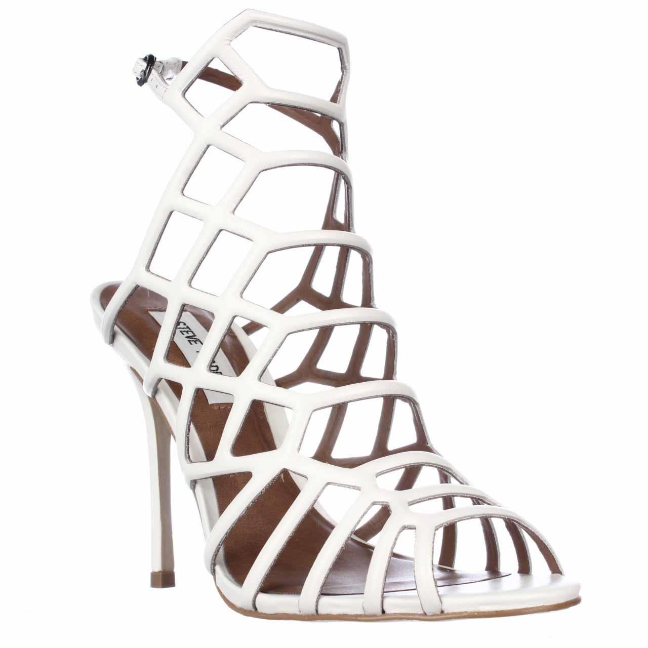 6bee43dd522 Steve Madden White Slithur Caged Dress Sandals
